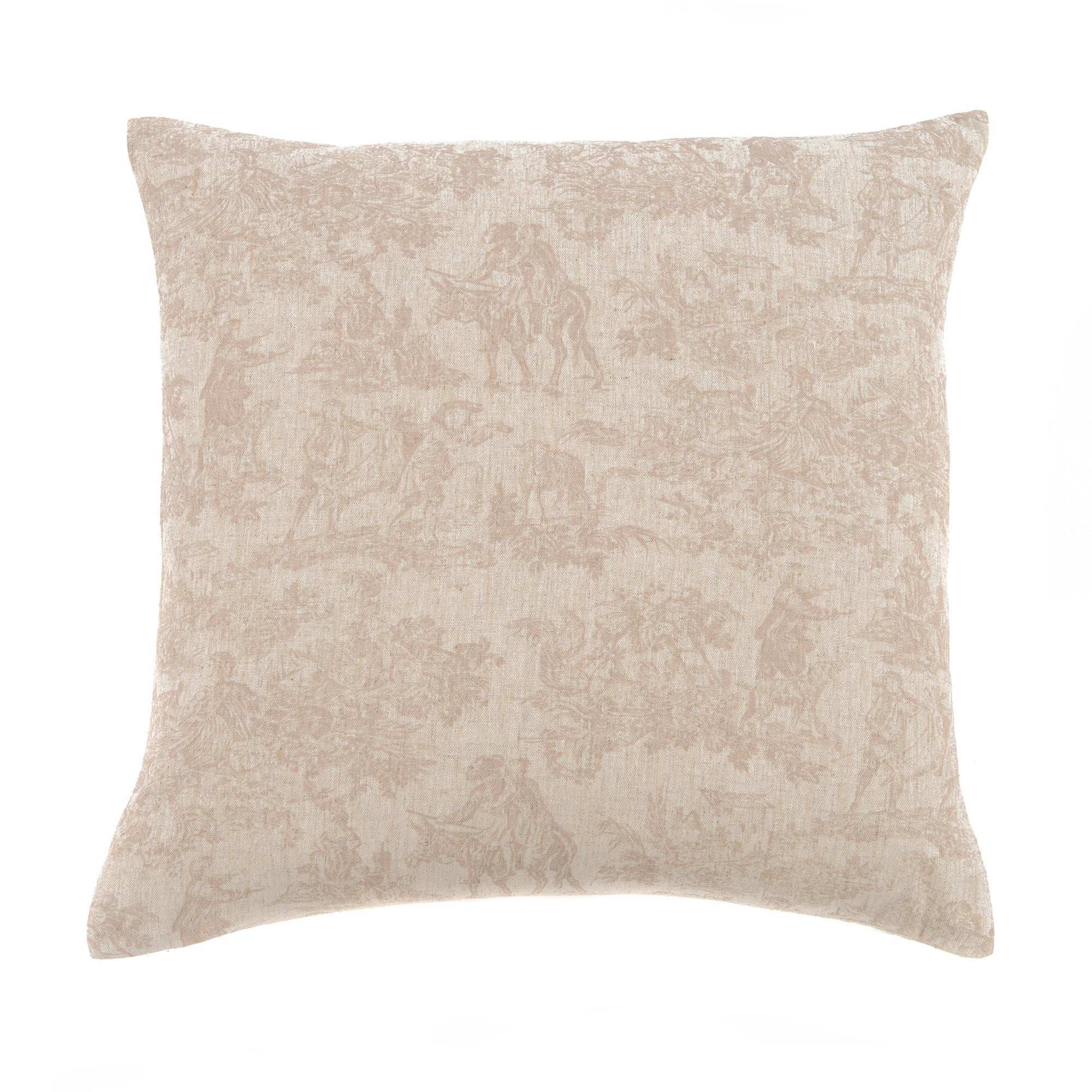 Photo of Natural rustic toile cushion natural