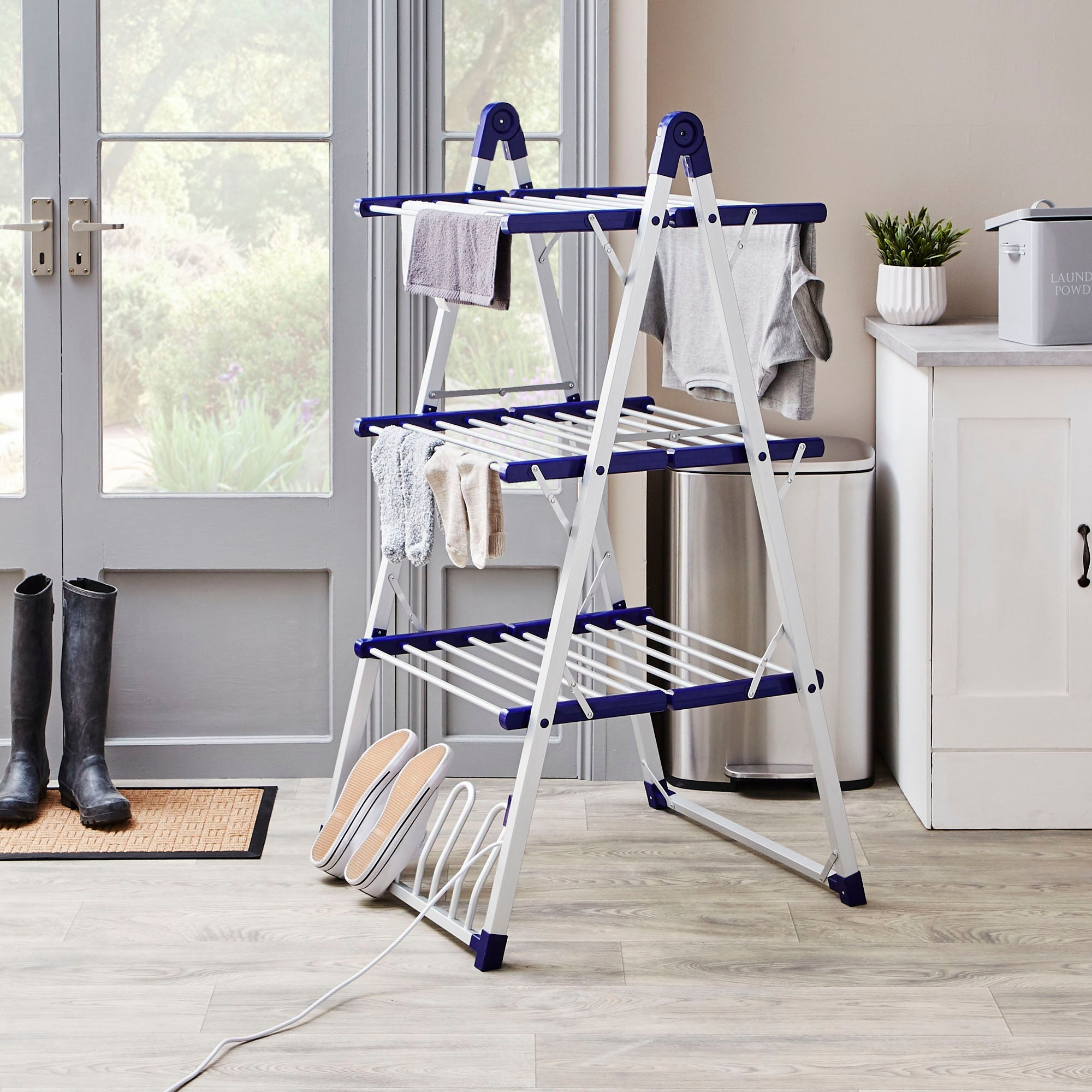 Image of 3-Tier Heated Airer Grey