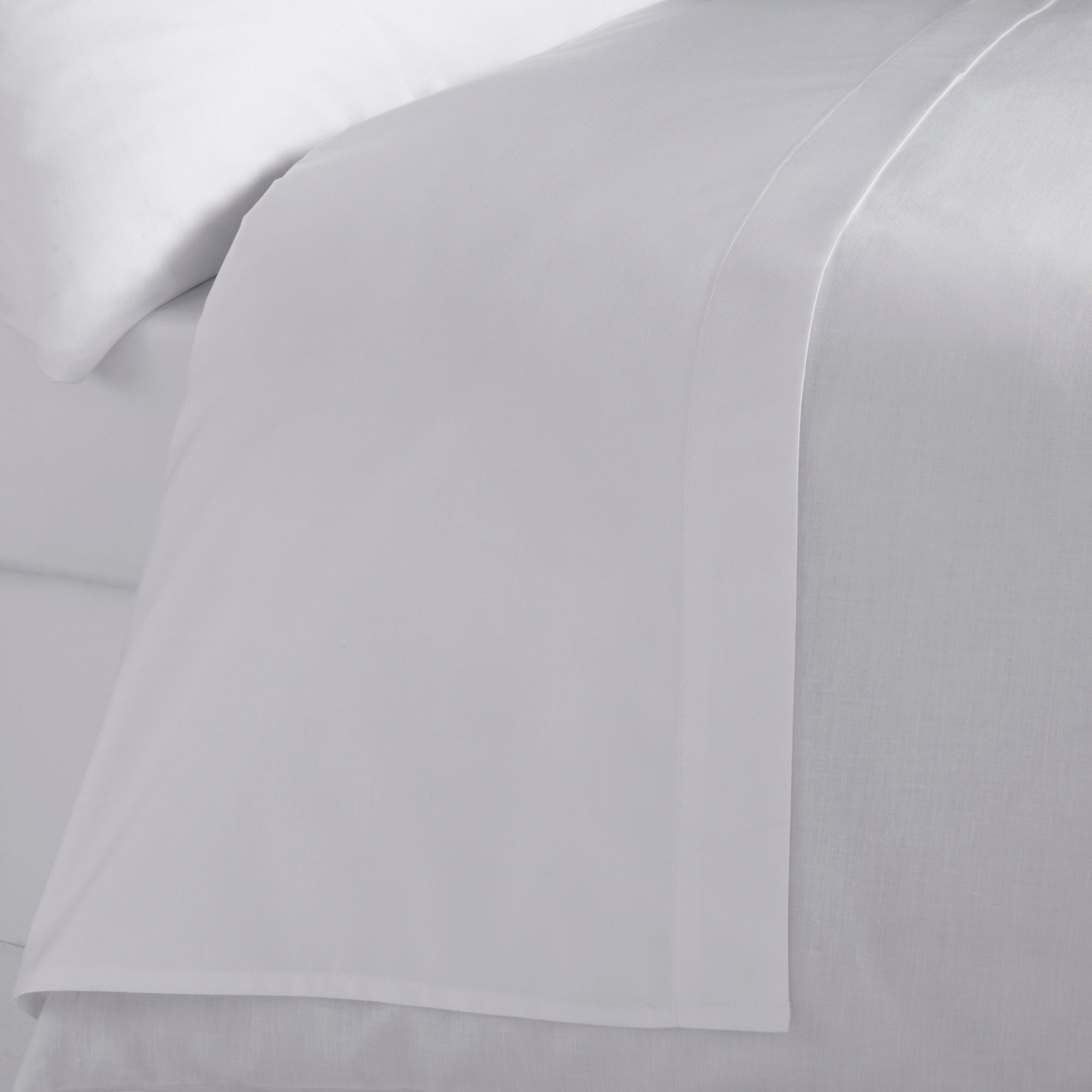 Image of Hotel 300 Thread Count Silver Flat Sheet Silver (Grey)