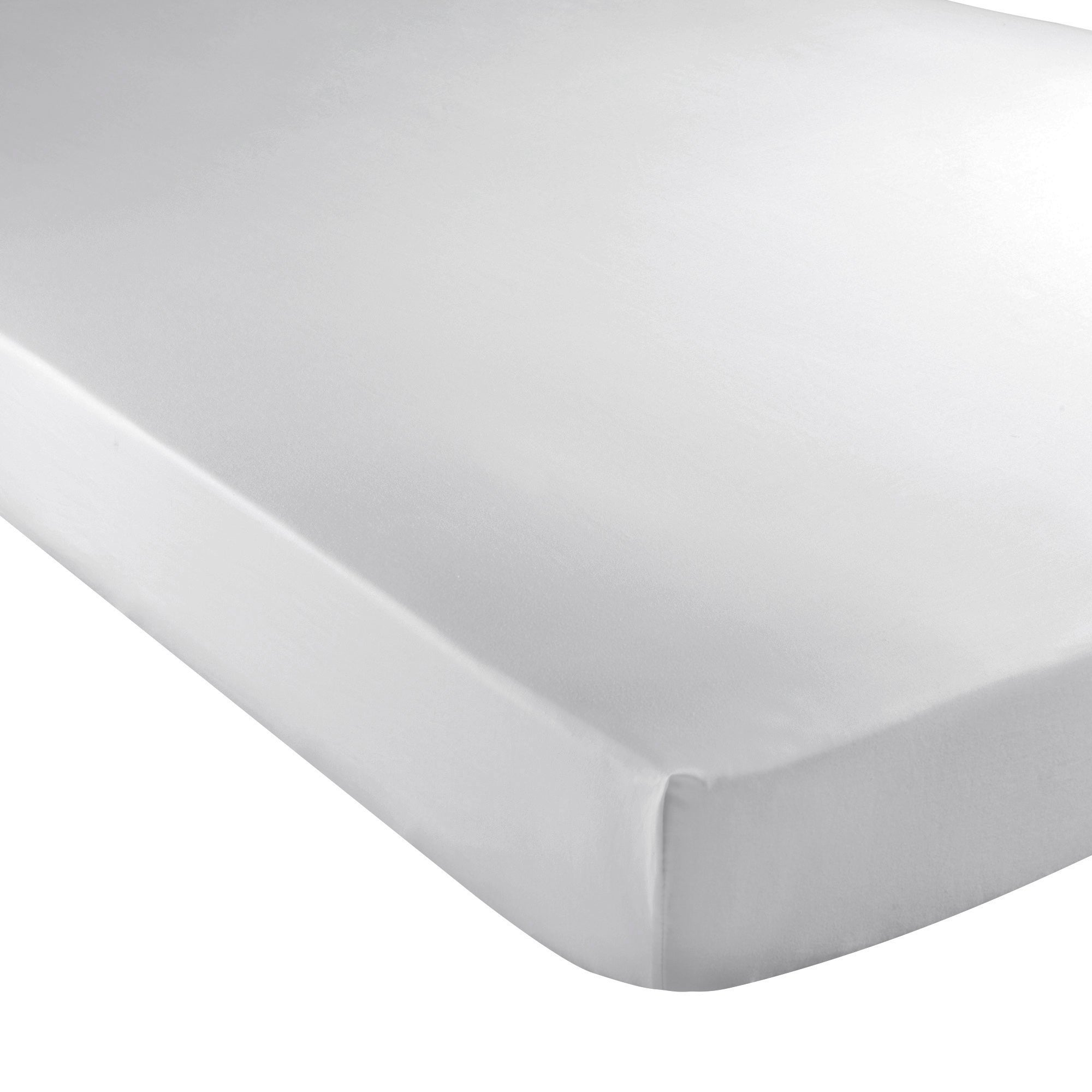 Image of Hotel 300 Thread Count 28cm Silver Fitted Sheet Silver (Grey)
