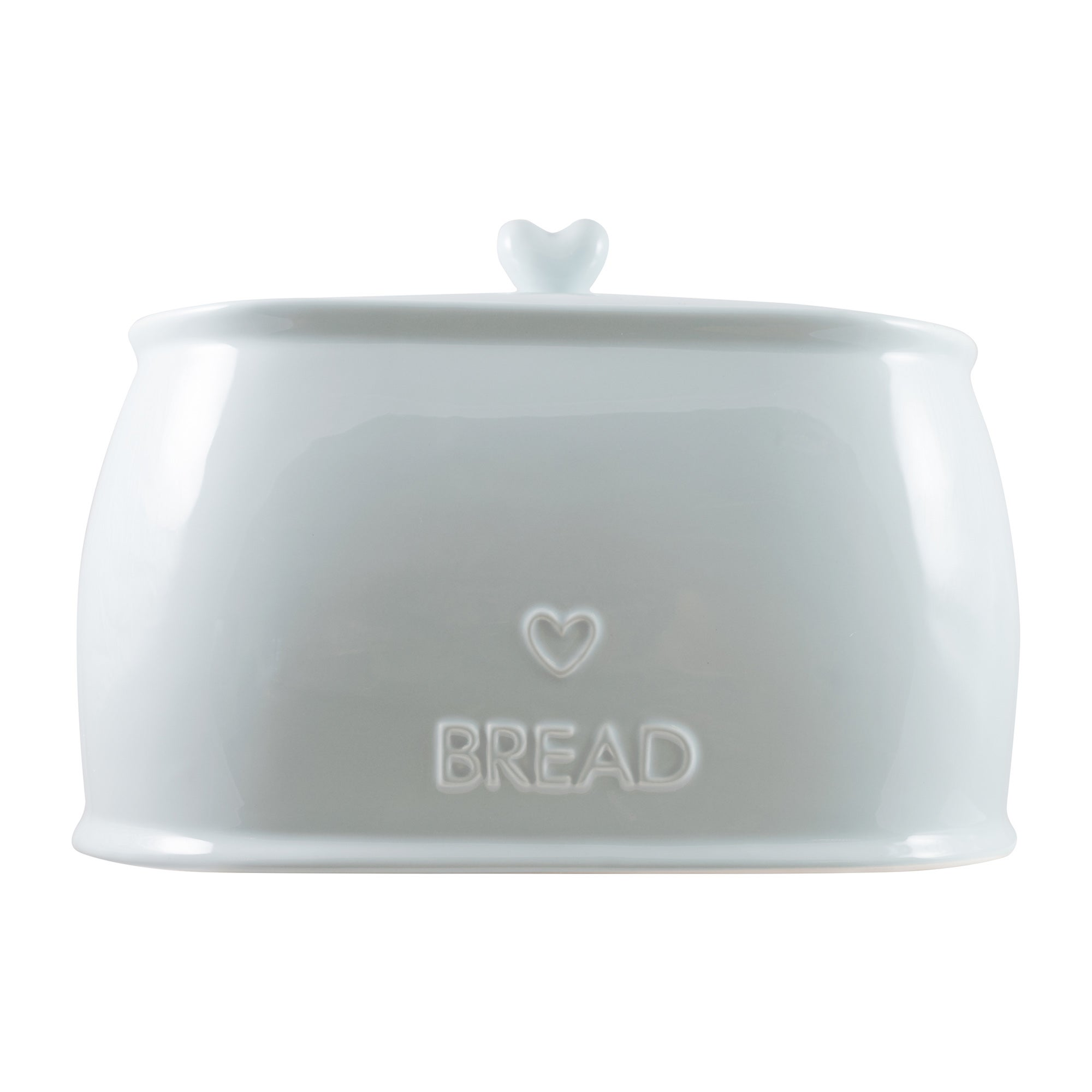 Country Heart Duck Egg Bread Crock Duck Egg (Blue)