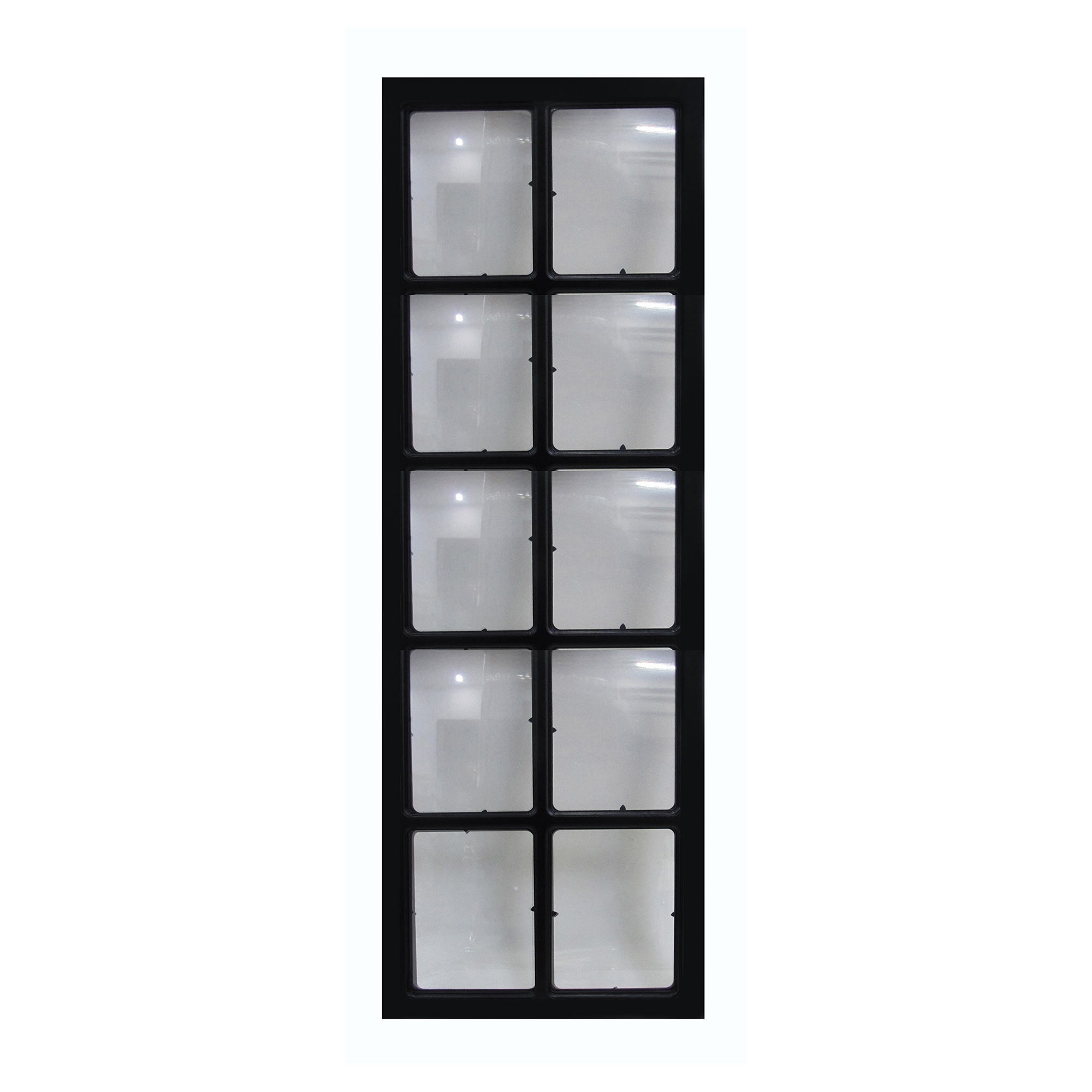 Image of 10 Aperture Window Pane Photo Frame Black