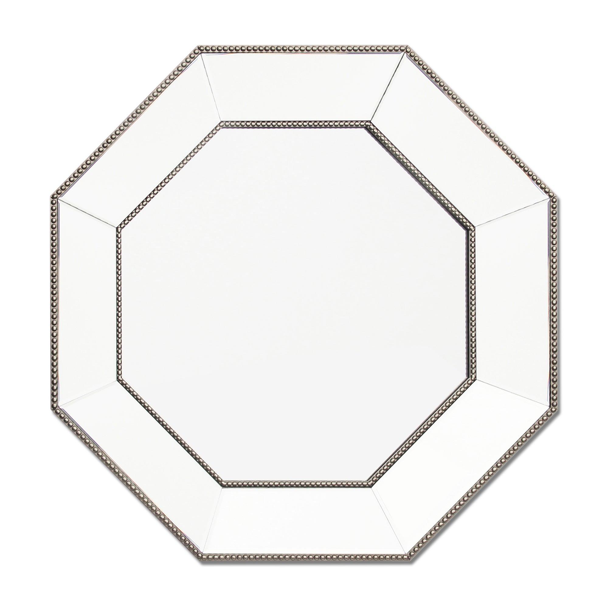 Photo of Dorma beaded edge octagonal mirror silver