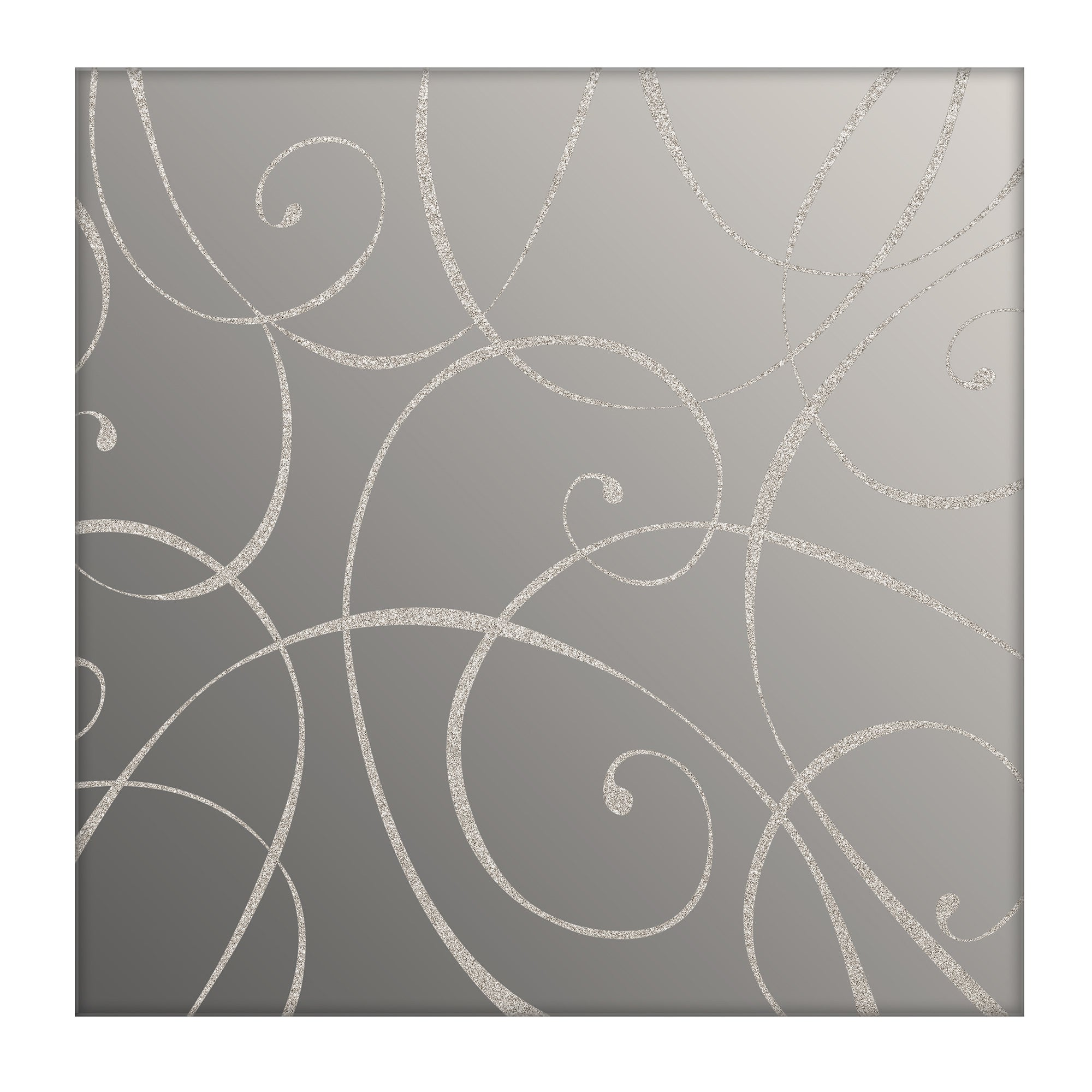 Image of 2 Elegant Script Mirrored Placemats Silver