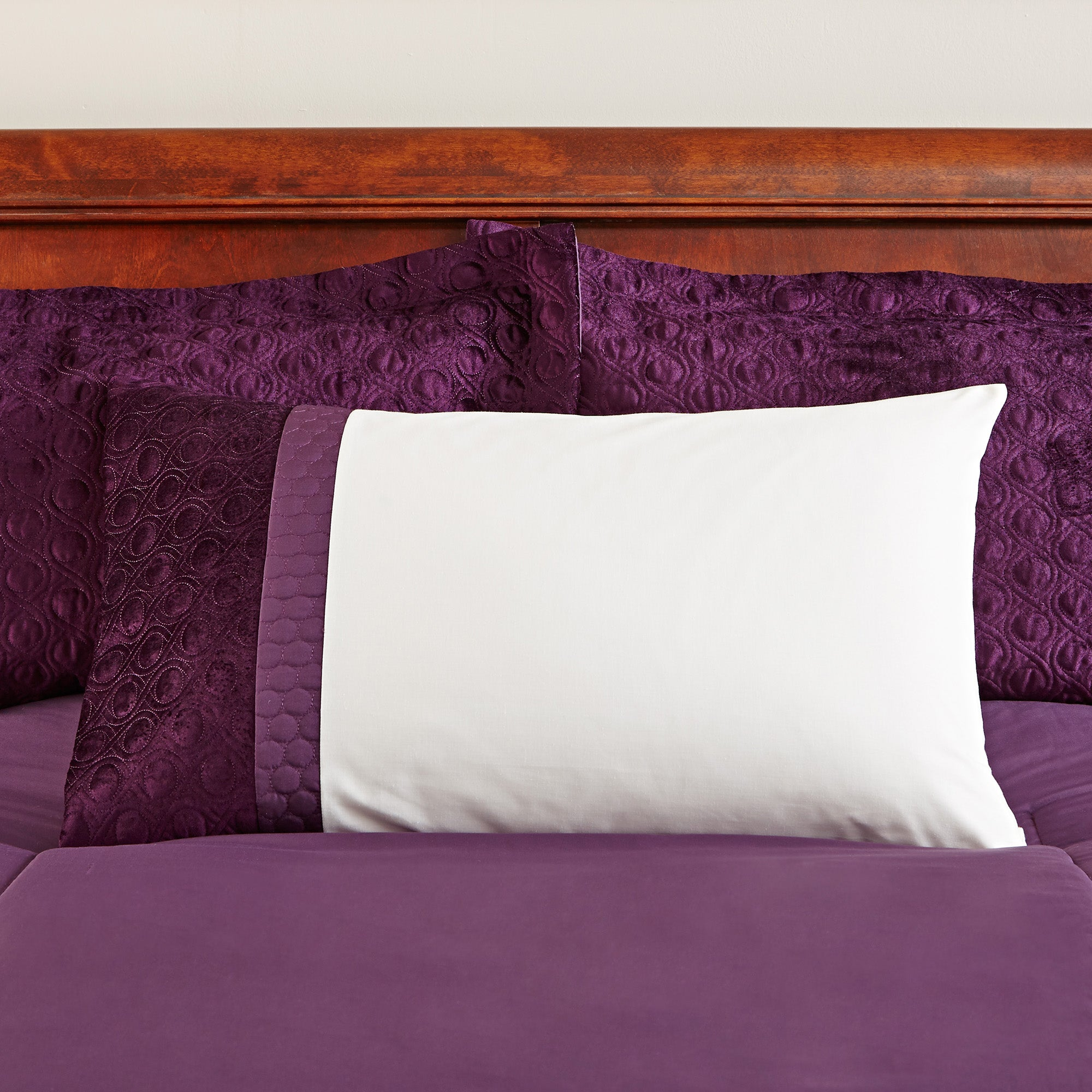 Image of Adalene Plum Housewife Pillowcase Plum (Purple)