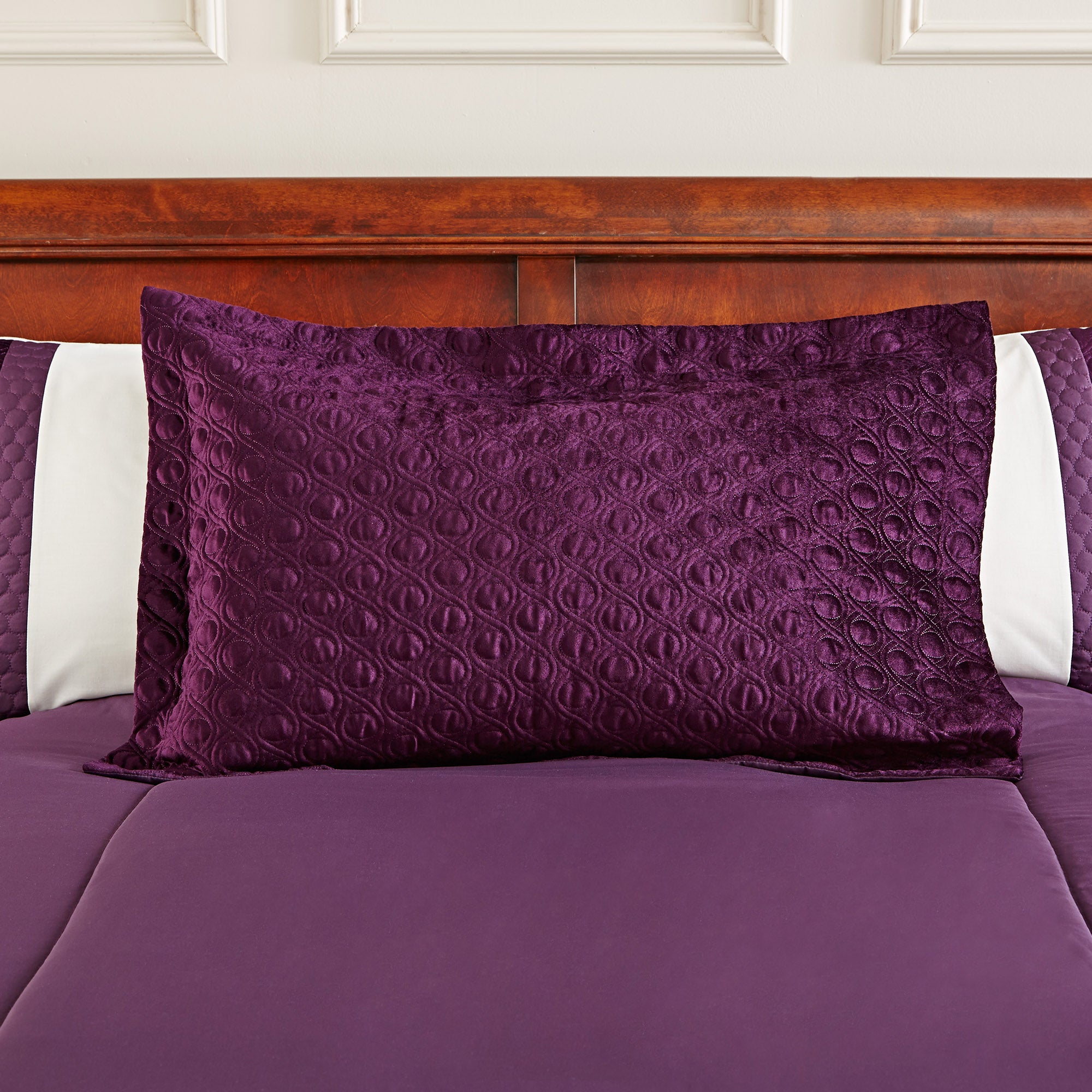 Image of Adalene Plum Pillow Sham Plum (Purple)