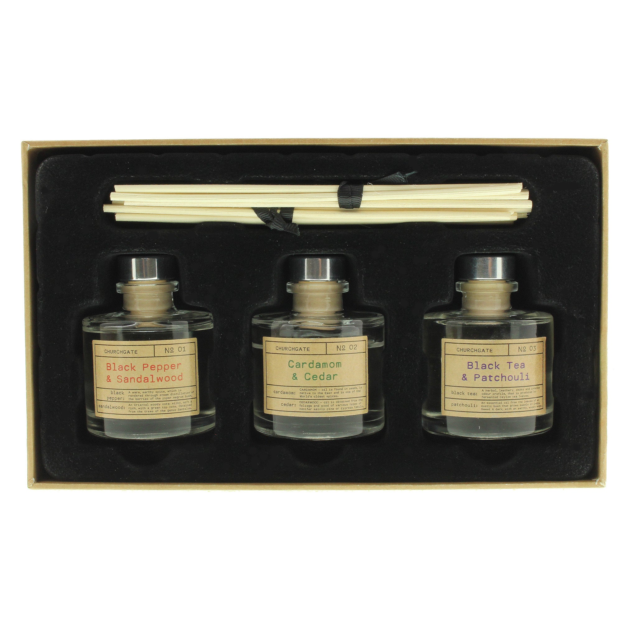 Image of Churchgate Reed Diffuser Set Clear