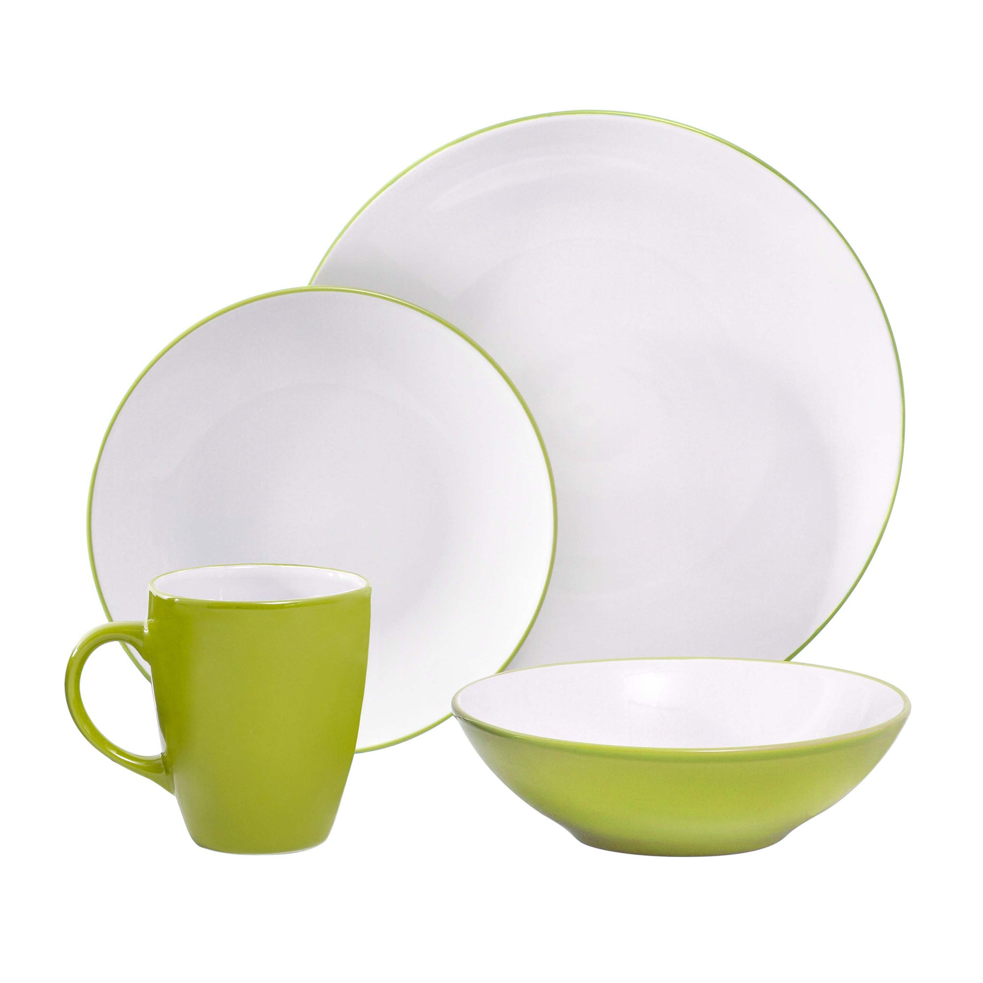 Image of Spectrum 16 Piece Lime Dinner Set Lime