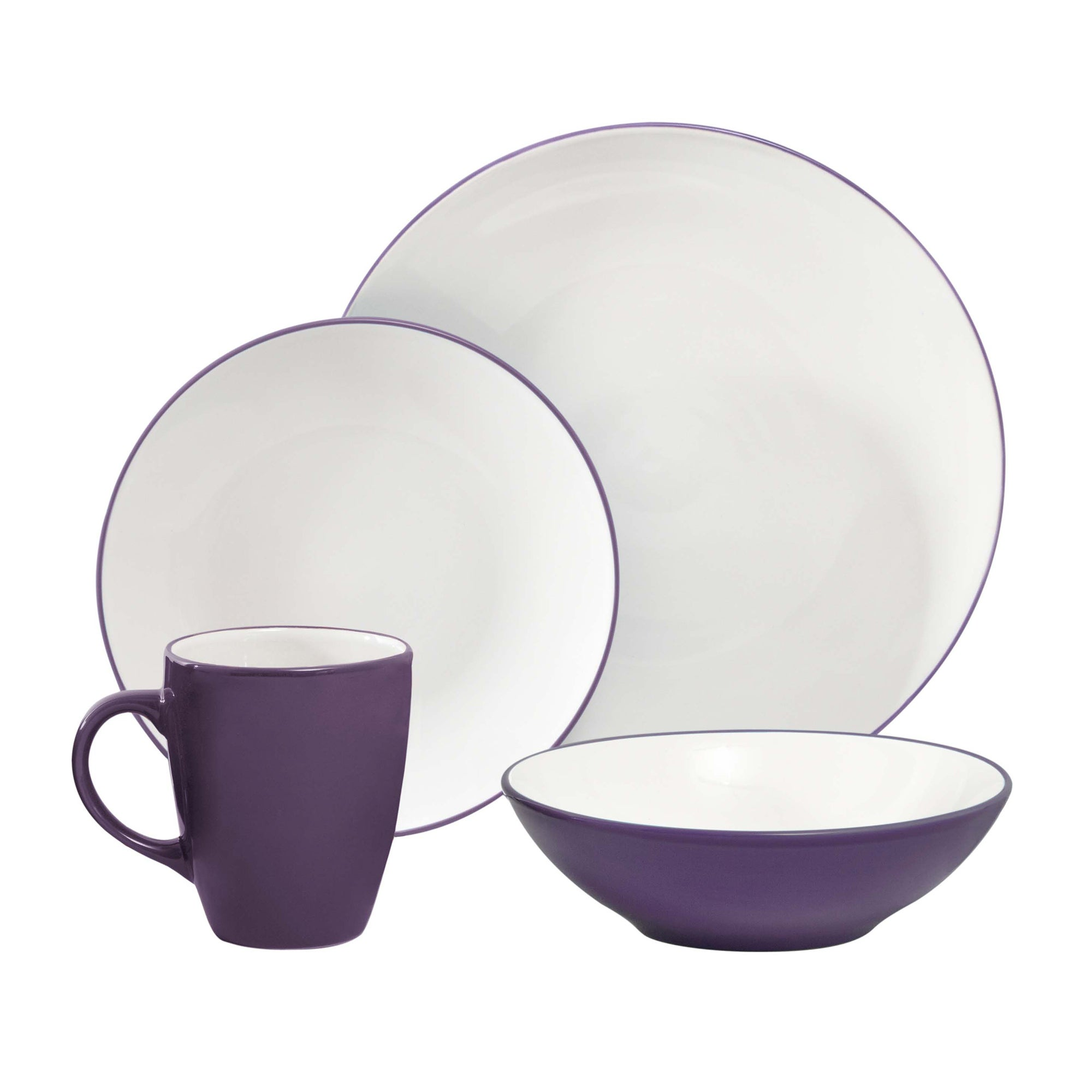 Image of Spectrum 16 Piece Purple Dinner Set Purple