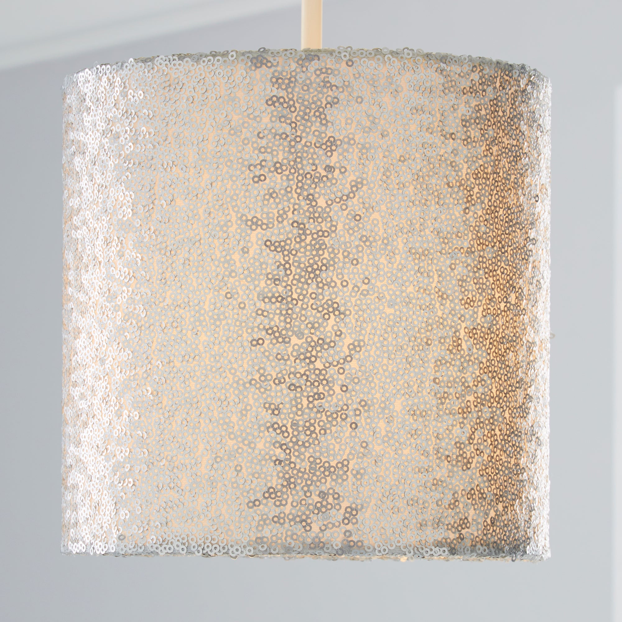 Photo of Sequin light shade silver