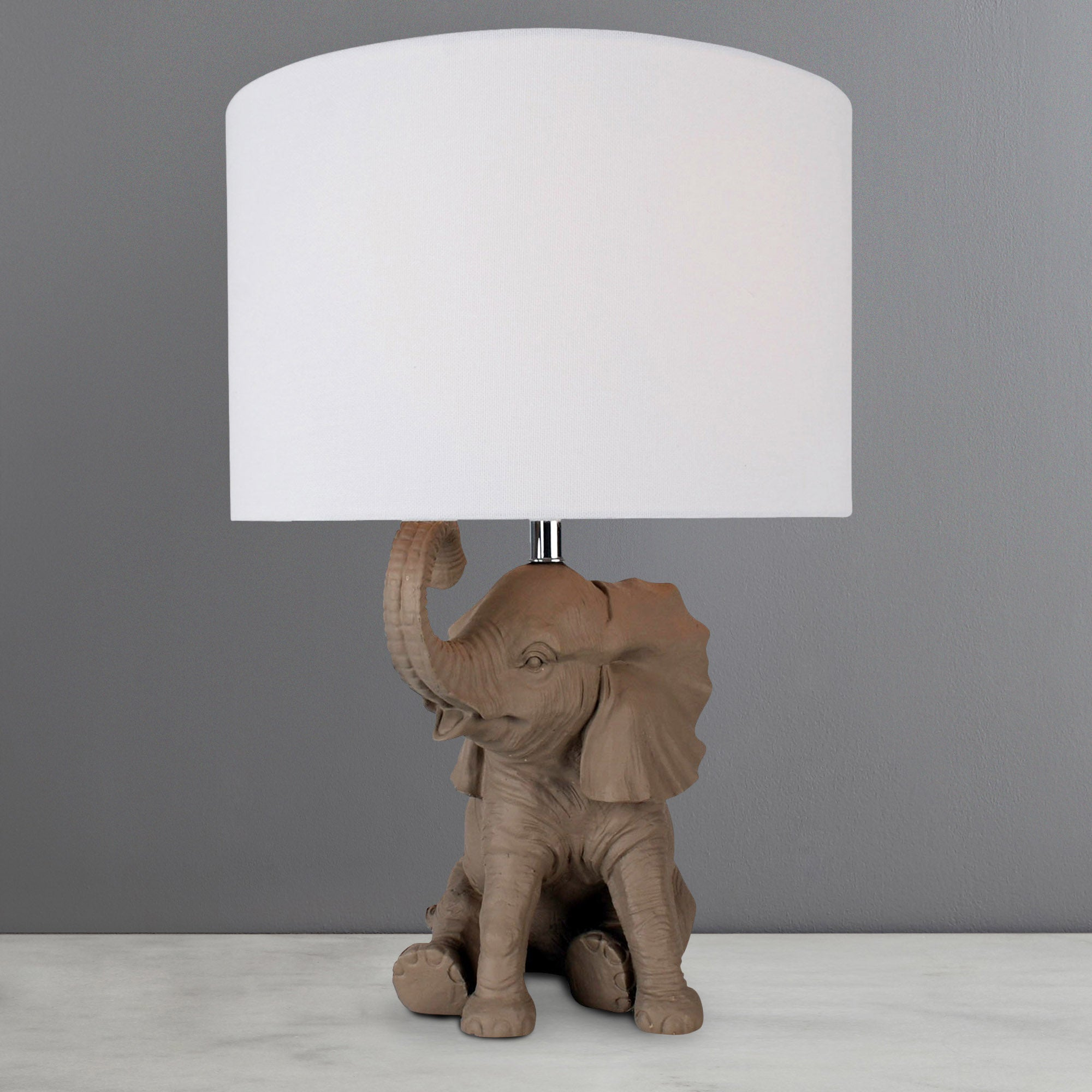Photo of Savannah elephant table lamp natural brown