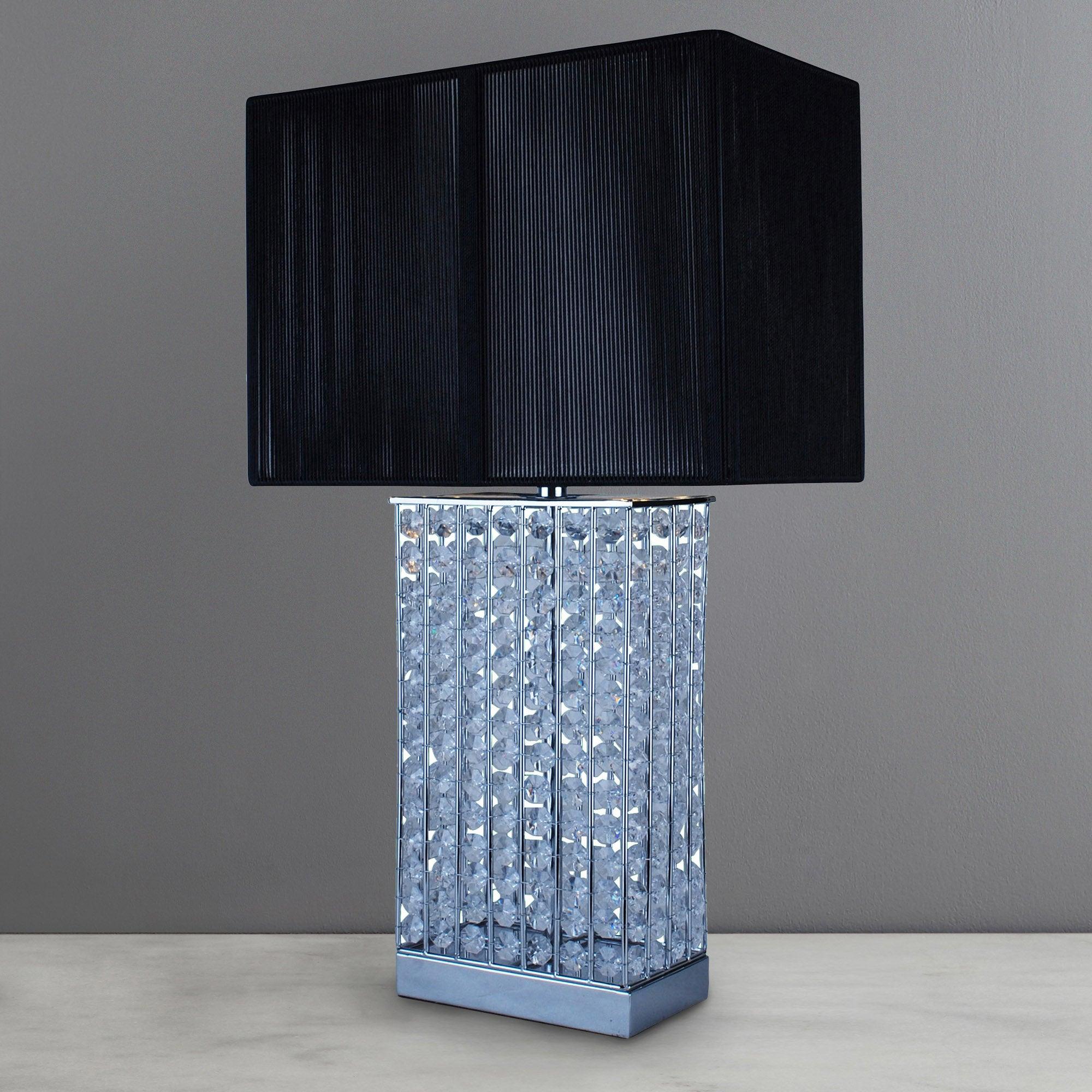 Photo of Chrome sierra jewel table lamp chrome