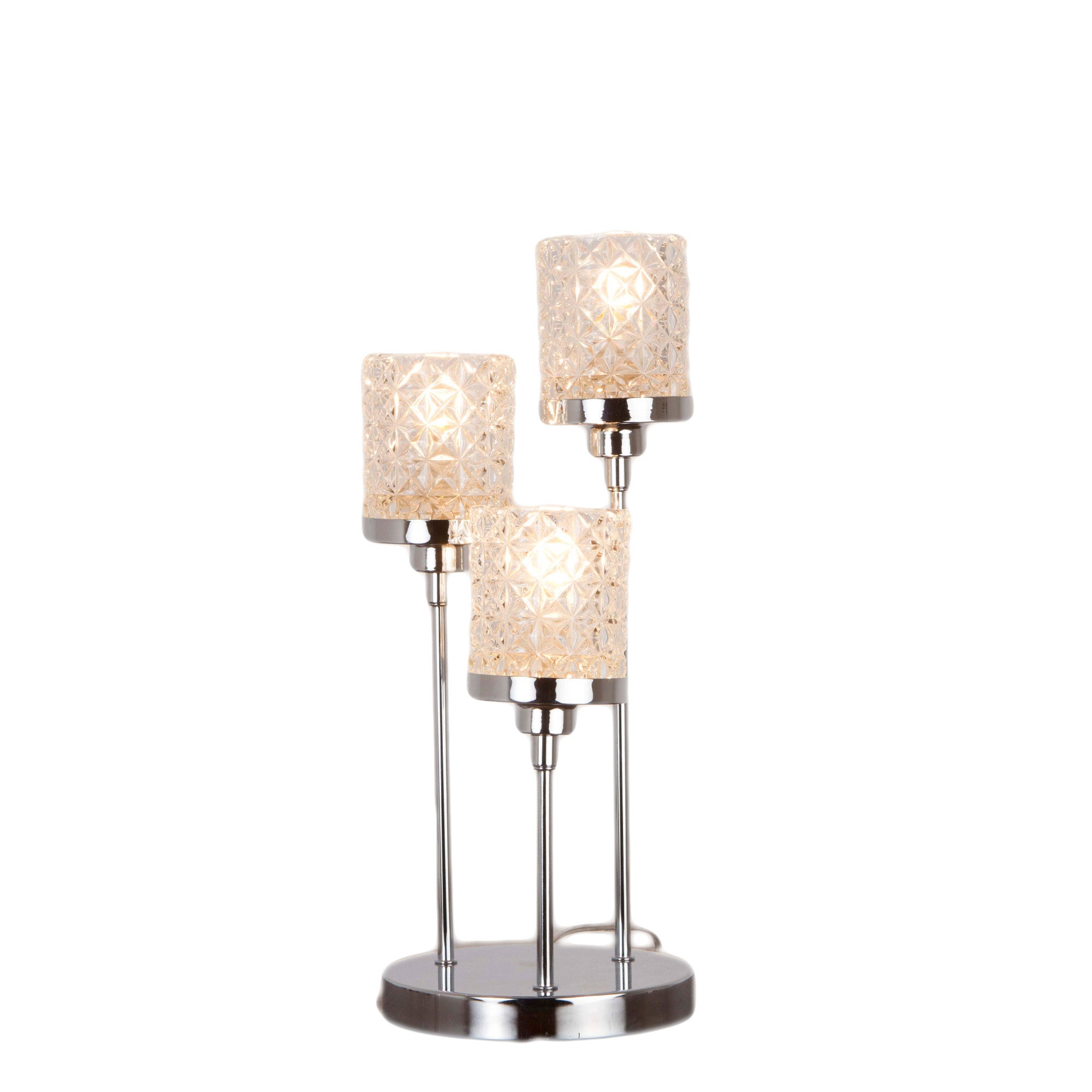 Photo of Satine chrome table lamp chrome