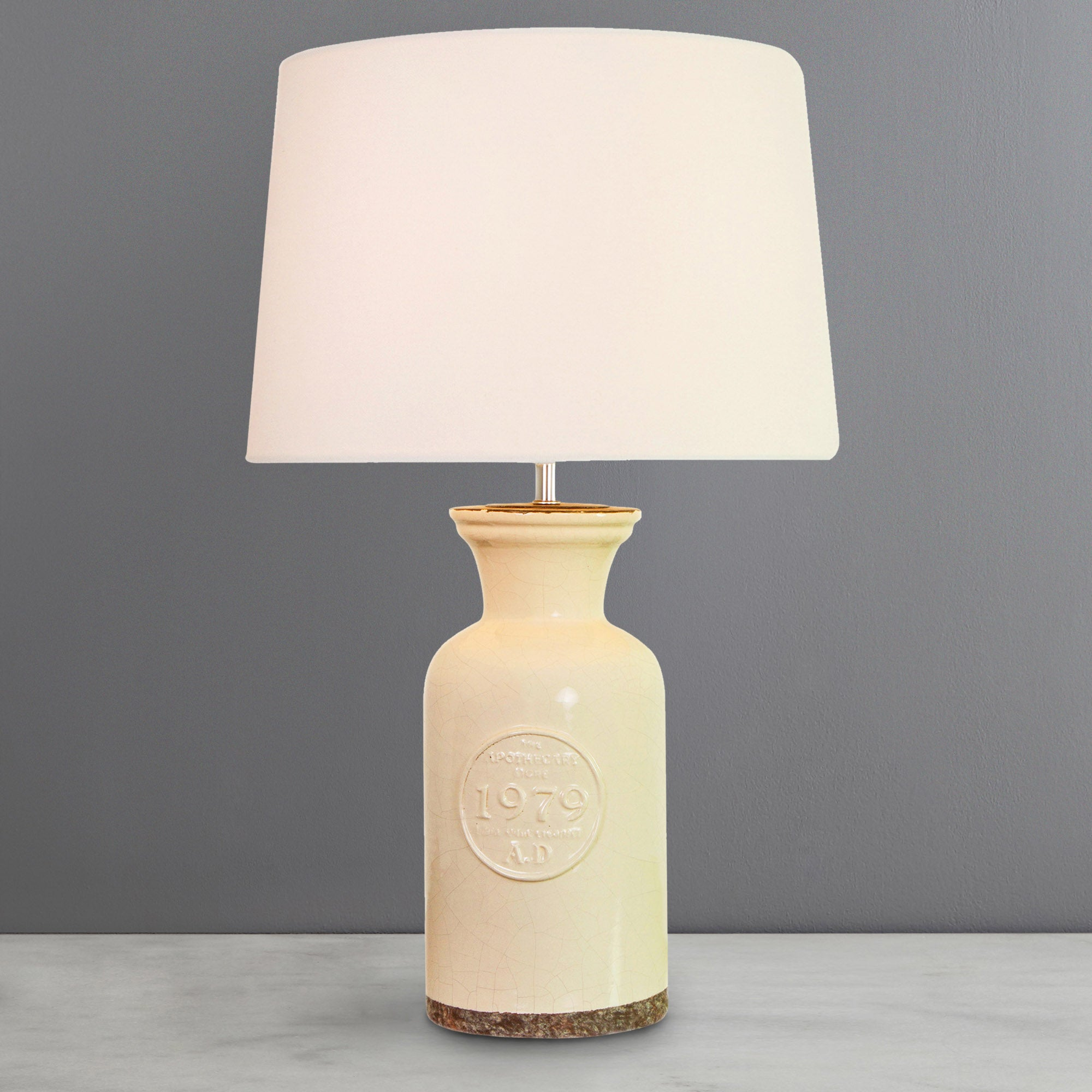 Photo of Porter ceramic table lamp cream cream