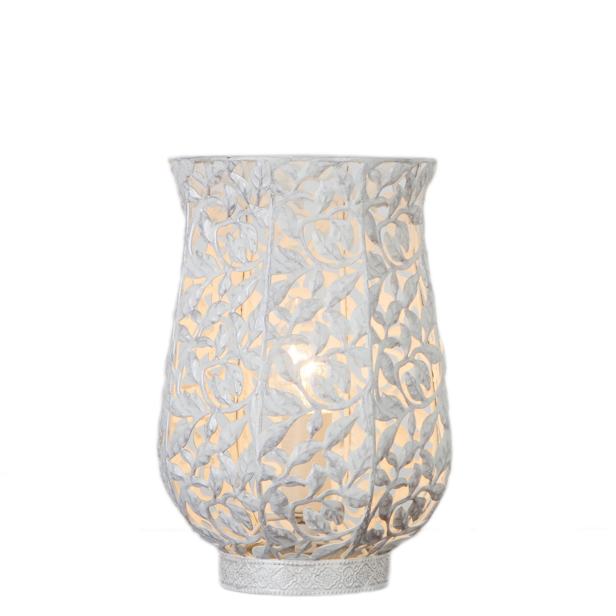 Photo of Ivy white table lamp white