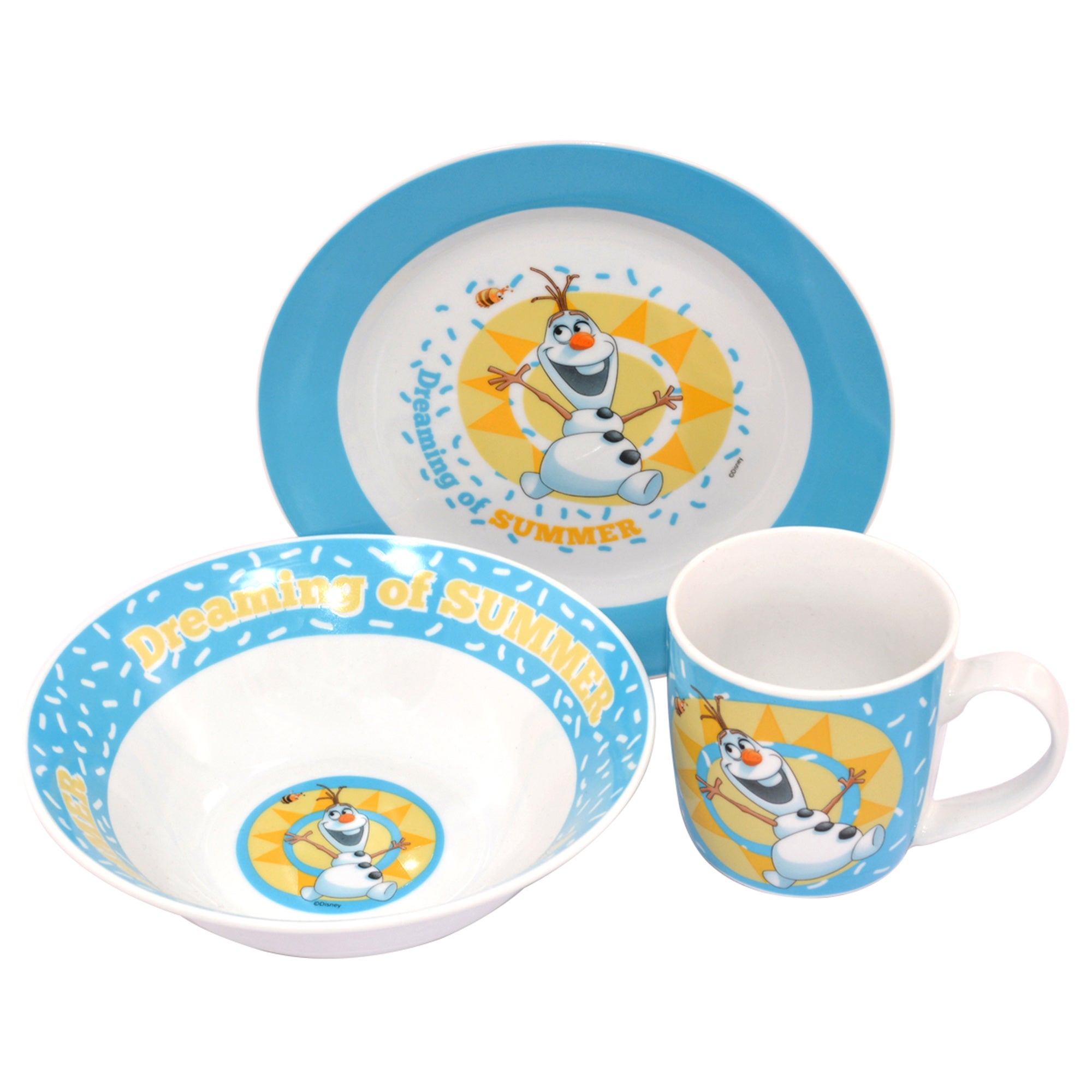 Image of Disney Olaf Ceramic Breakfast Set Blue