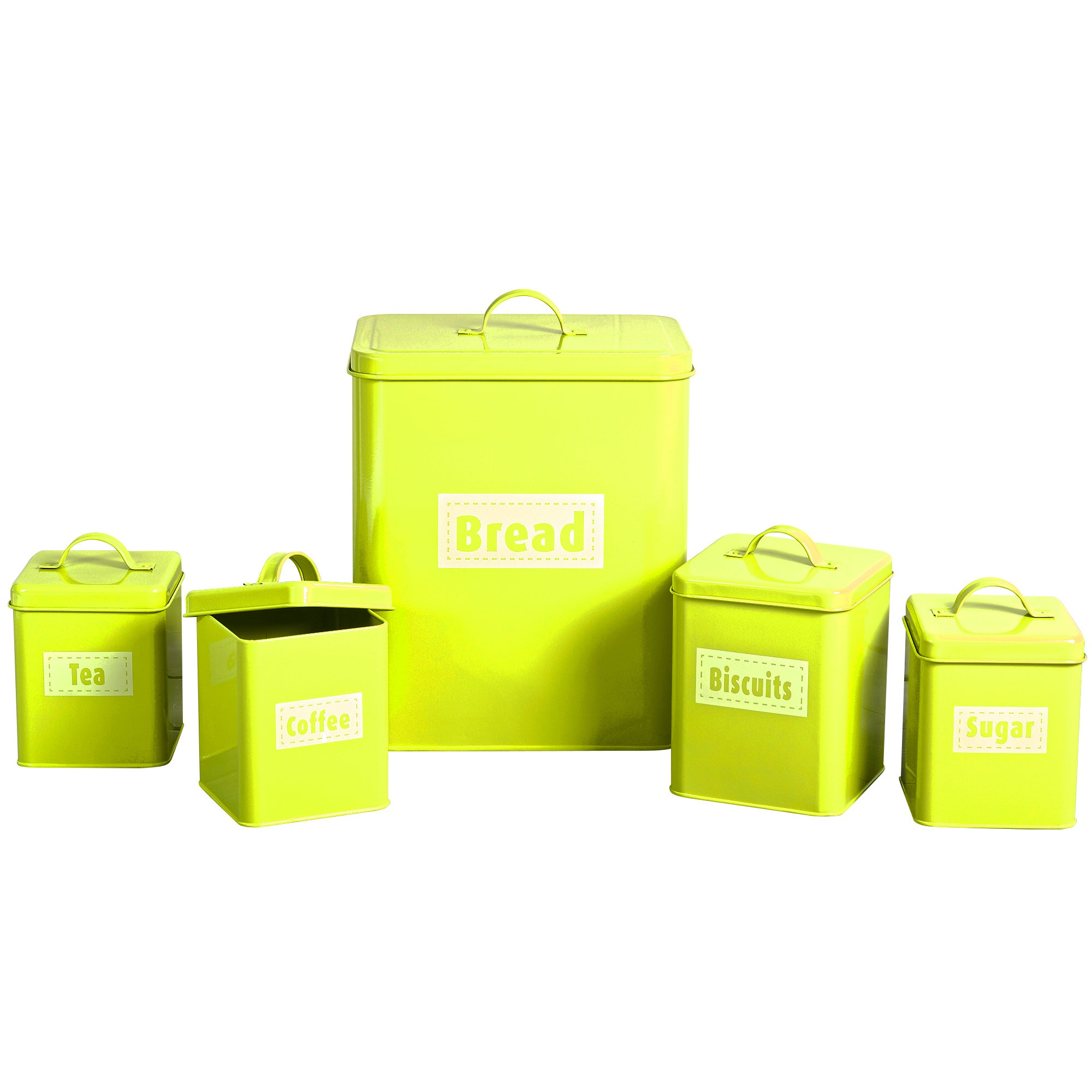 Image of Spectrum 5 Piece Kitchen Storage Set Lime (Green)