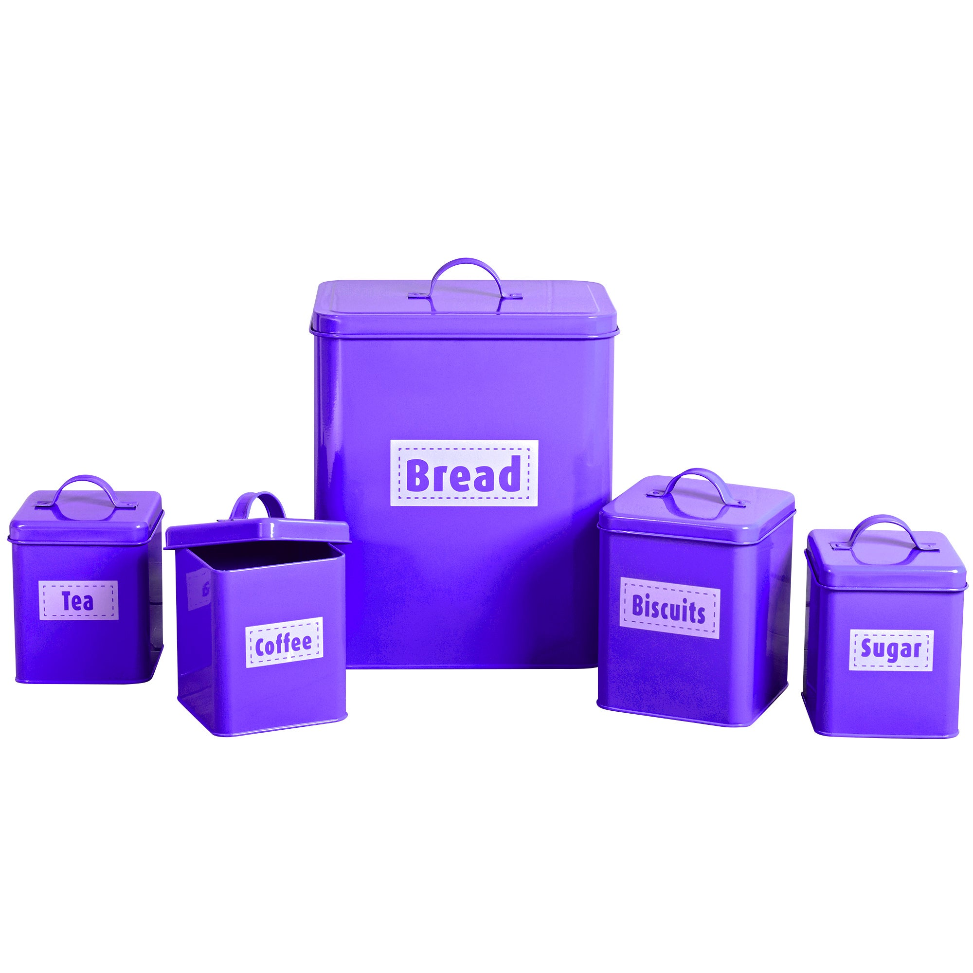 Image of Spectrum 5 Piece Kitchen Storage Set Purple