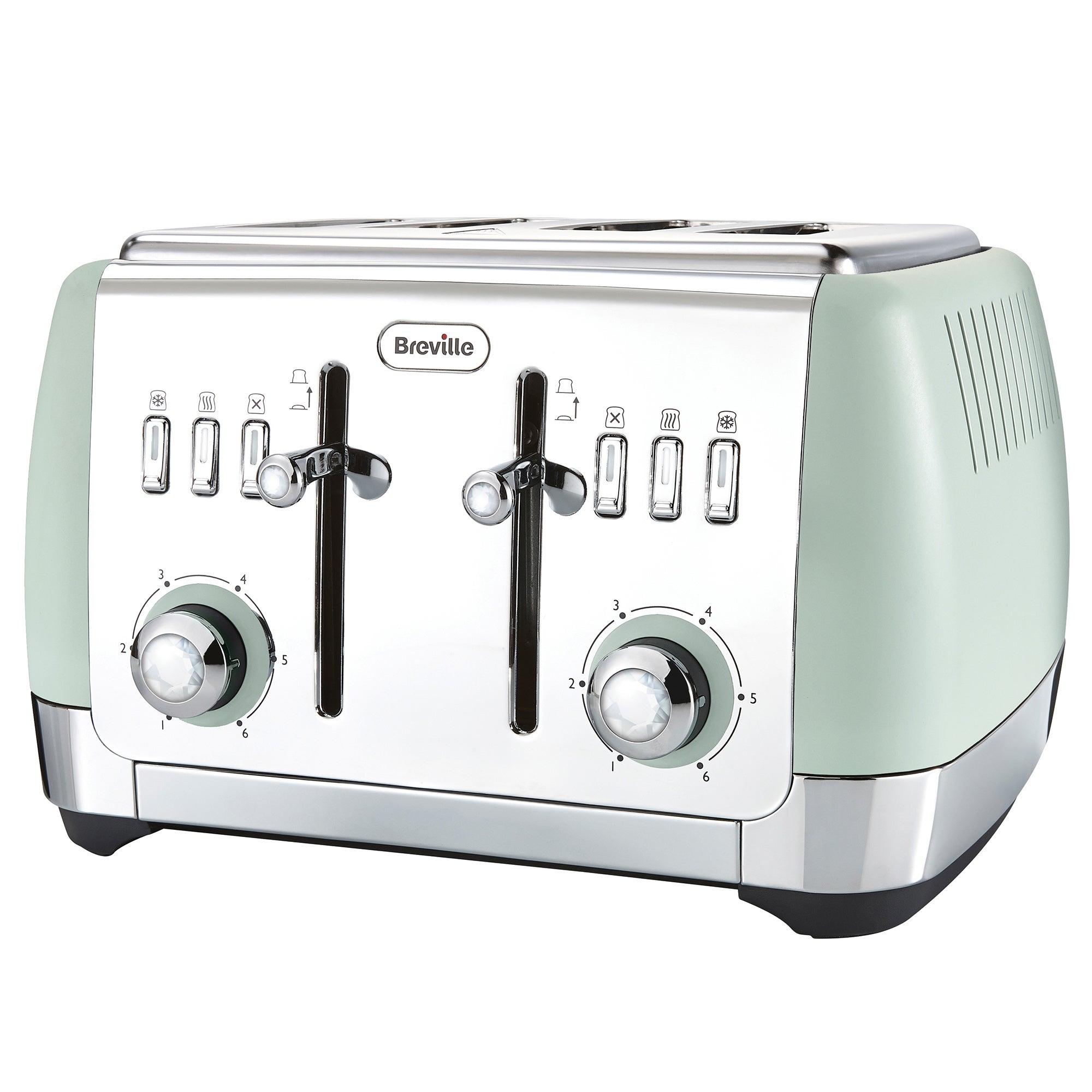 Breville VTT768 Strata Collection 4 Slice Green Toaster Green