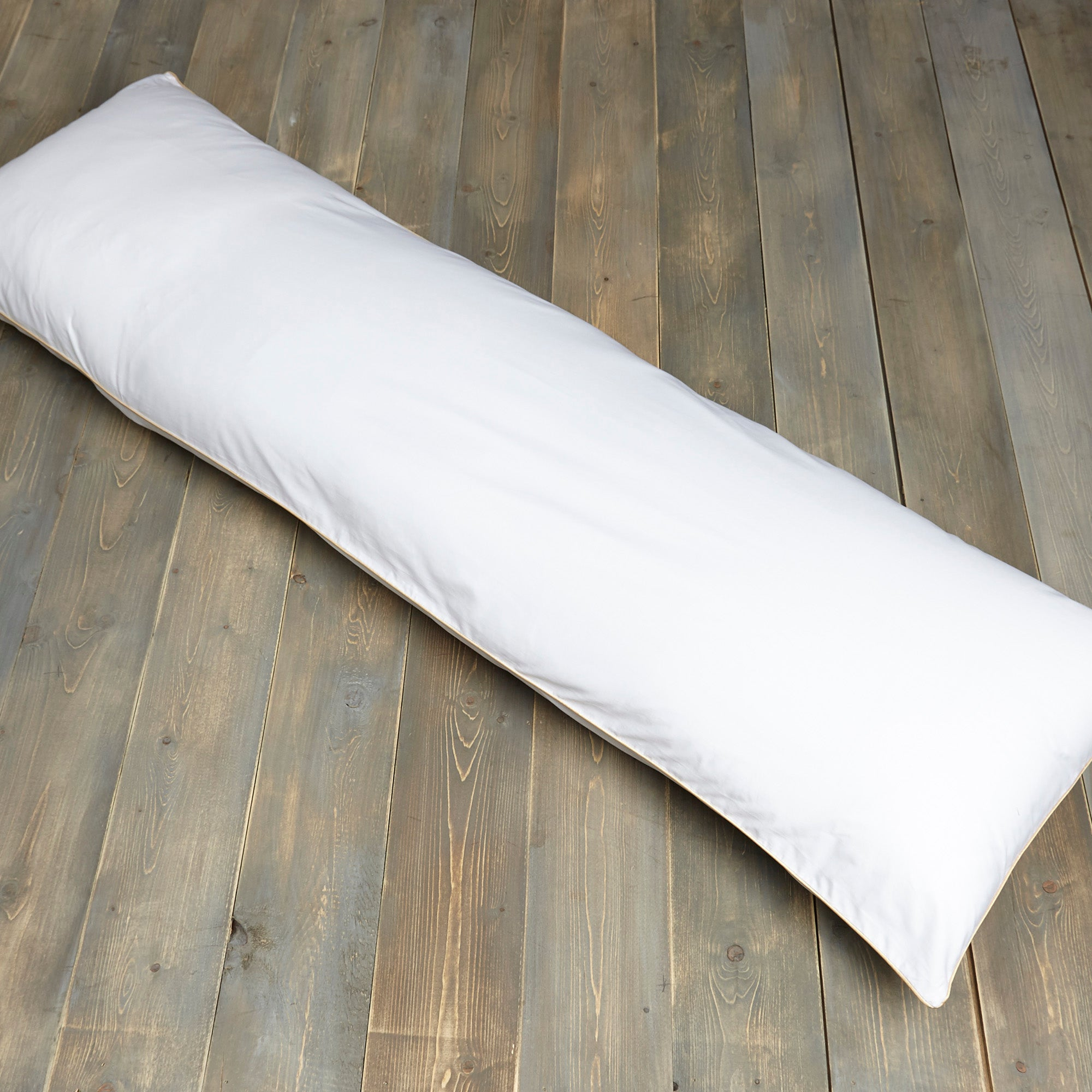 Image of Dorma Cotton Sateen Bolster Pillow Protector White