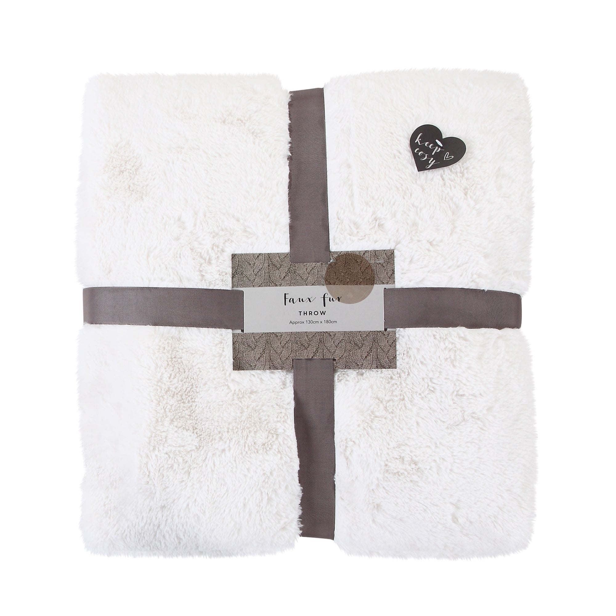 Image of Aspen Plush Throw Ivory