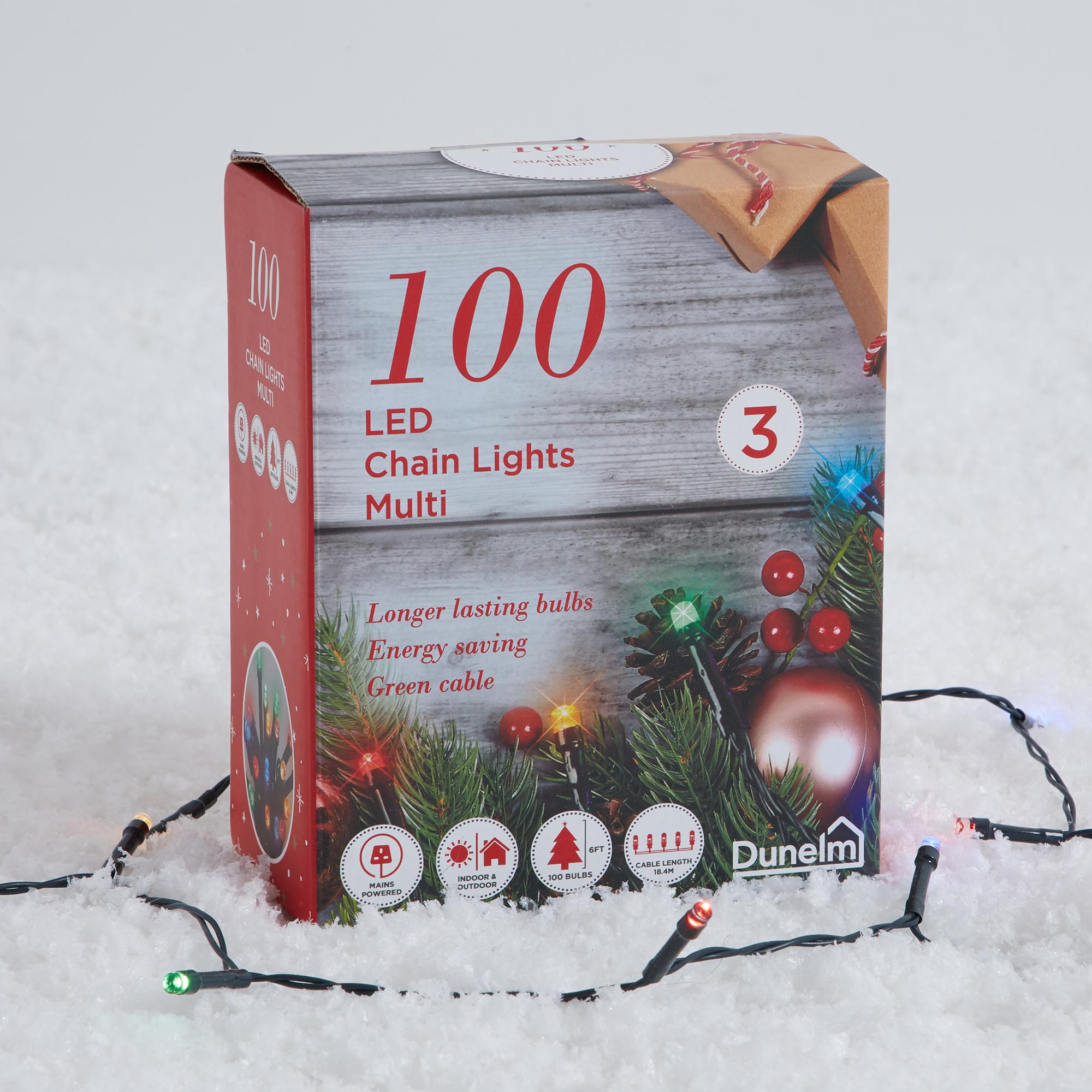 100 LED Christmas Lights Multi Coloured