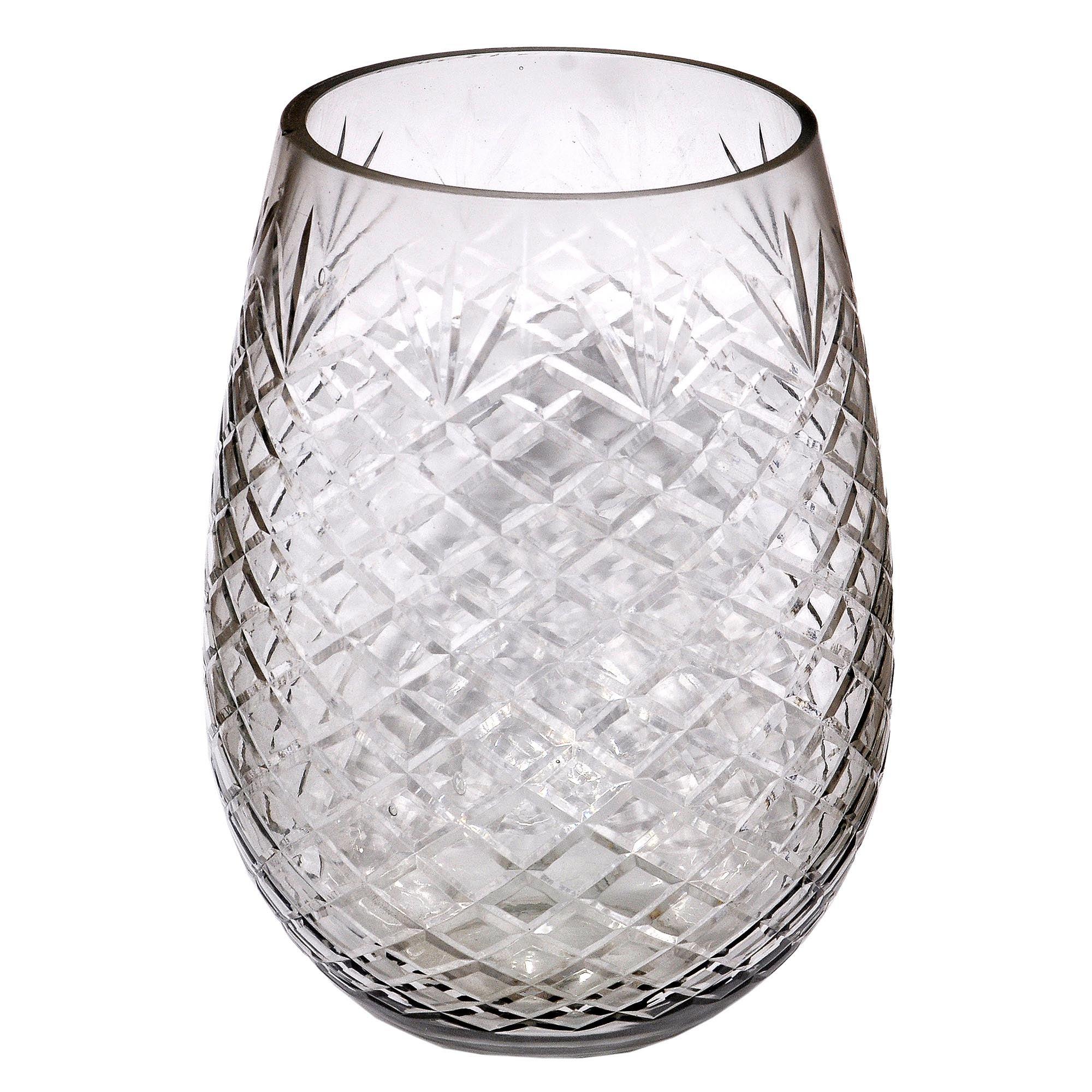 Photo of Dorma cut glass hurricane vase clear