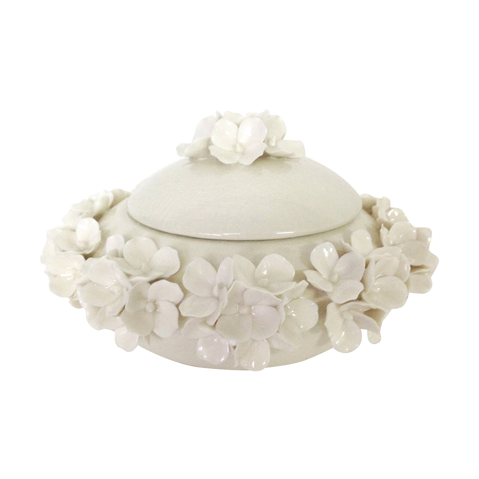 Image of Dorma Cream Flower Trinket Pot Cream