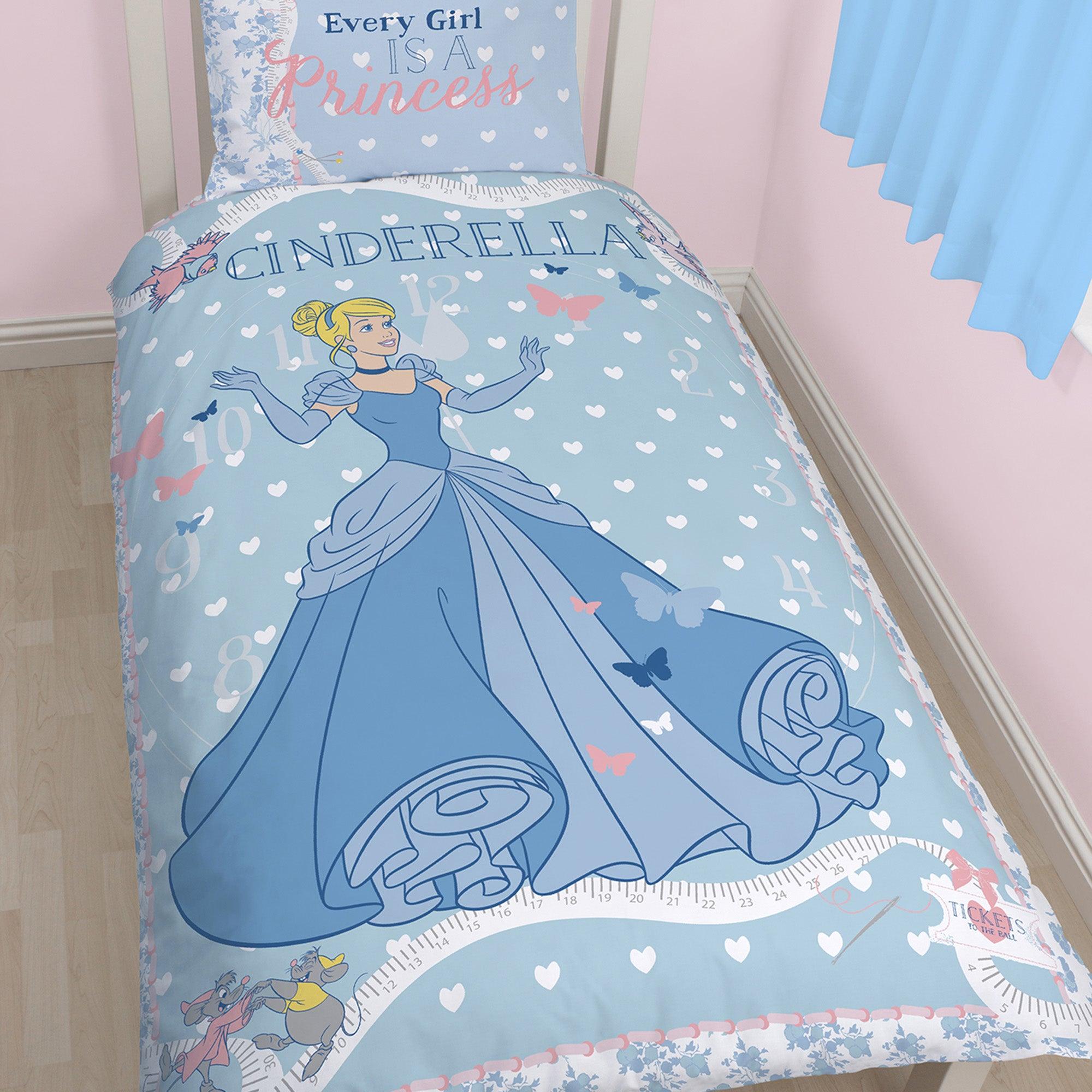 Image of Disney Cinderella Single Duvet Set Blue