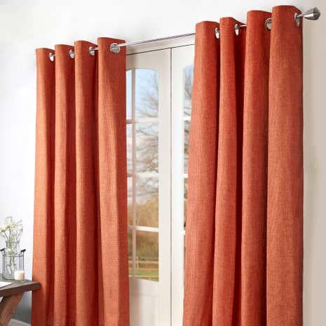 orange ohio eyelet curtains