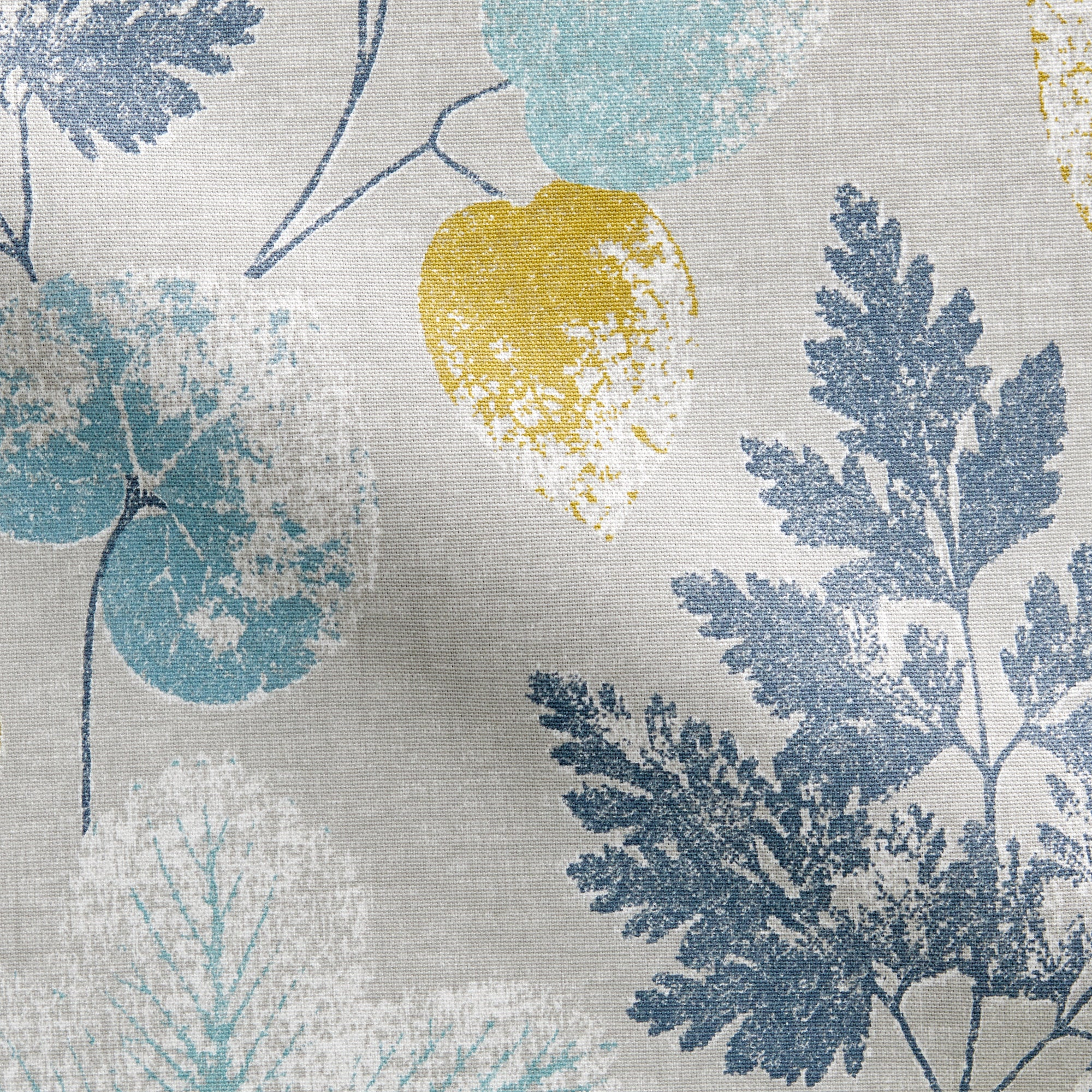 Photo of Olea fabric indigo blue