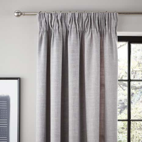 Vermont Dove Grey Lined Pencil Pleat Curtains Part 37