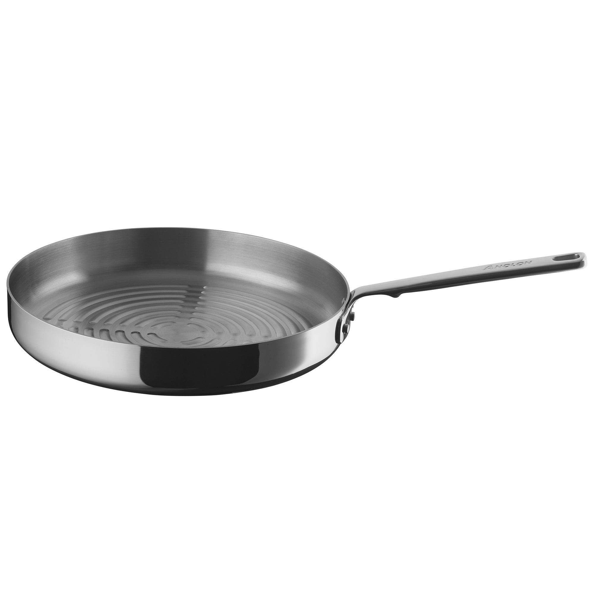 Authority Triple Clad 30cm Round Grill Pan Silver