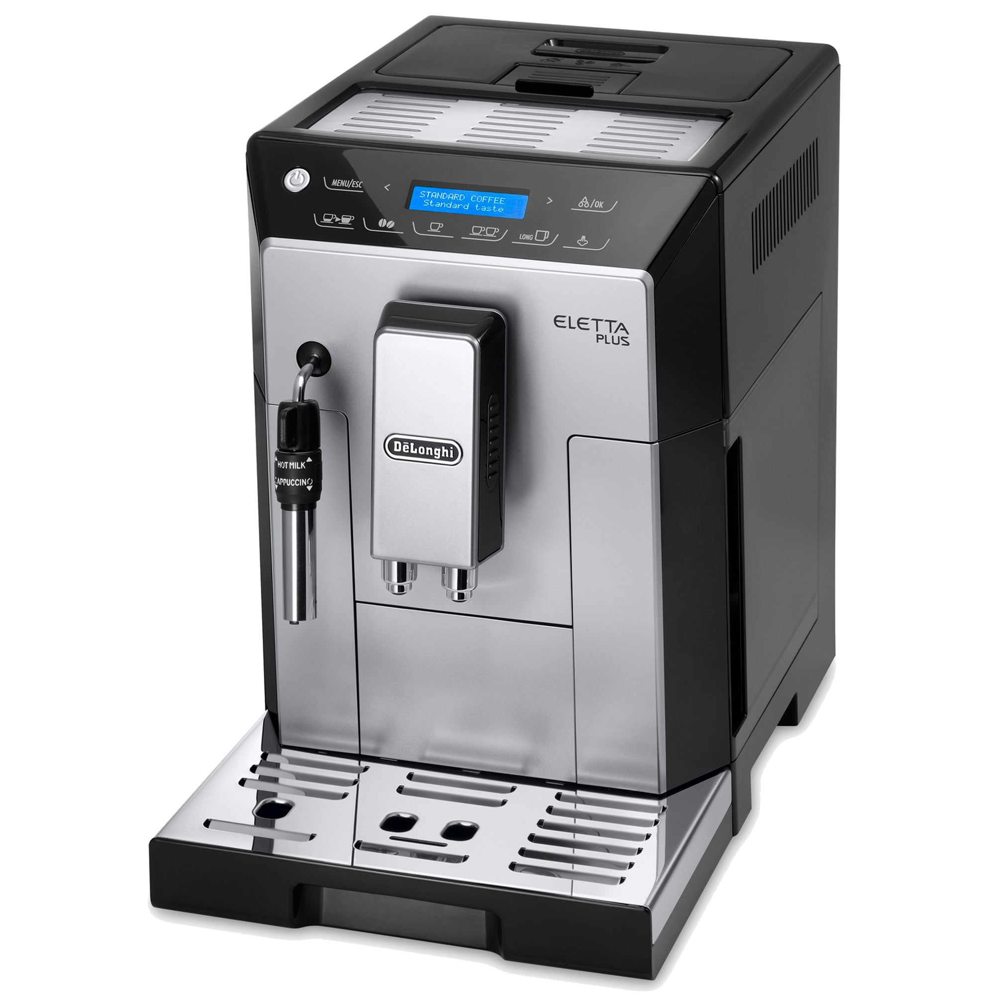 Photo of Delonghi eletta black/silver bean to cup machine ecam44.620.s black