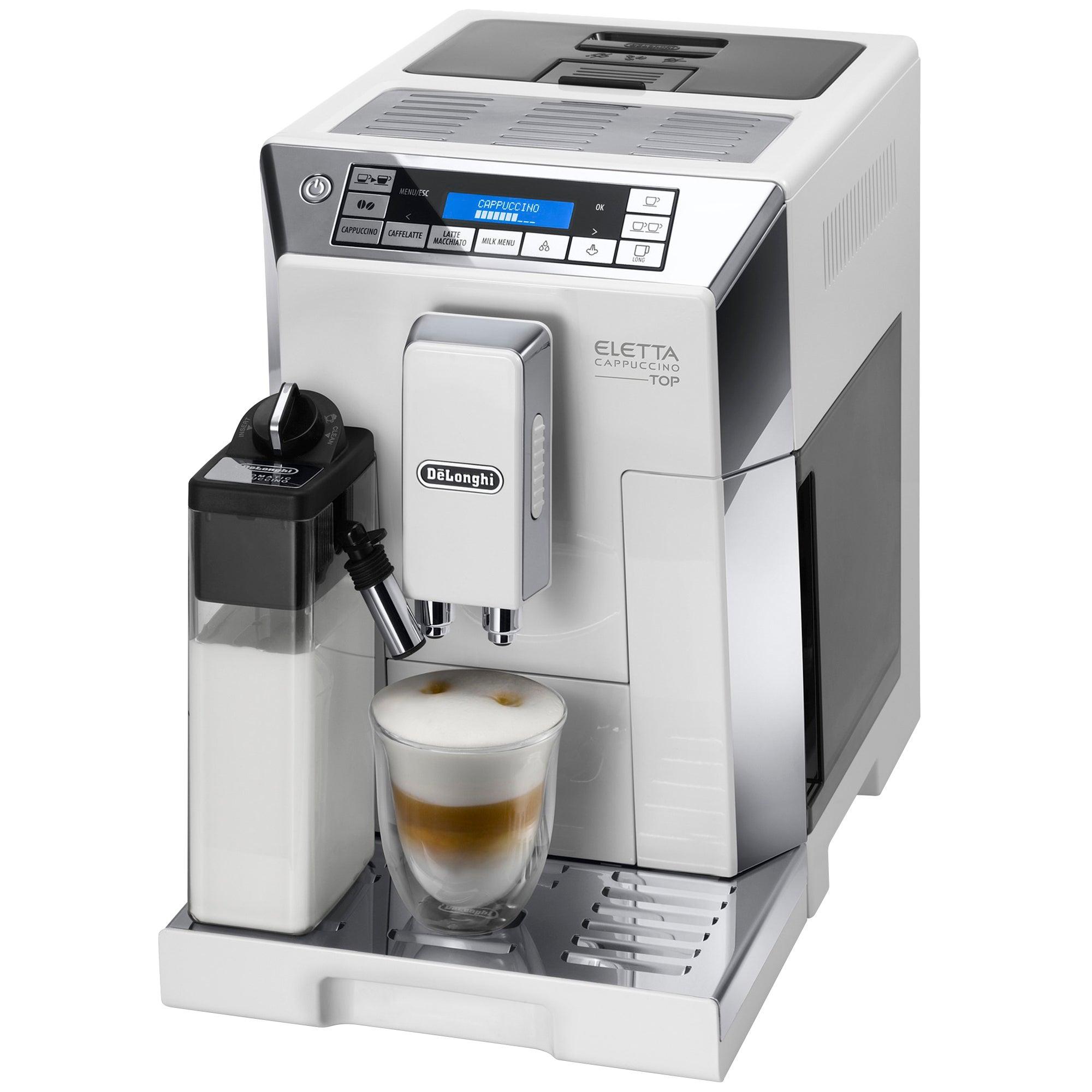 Photo of Delonghi bean to cup espresso cappuccino maker ecam45.760.w white