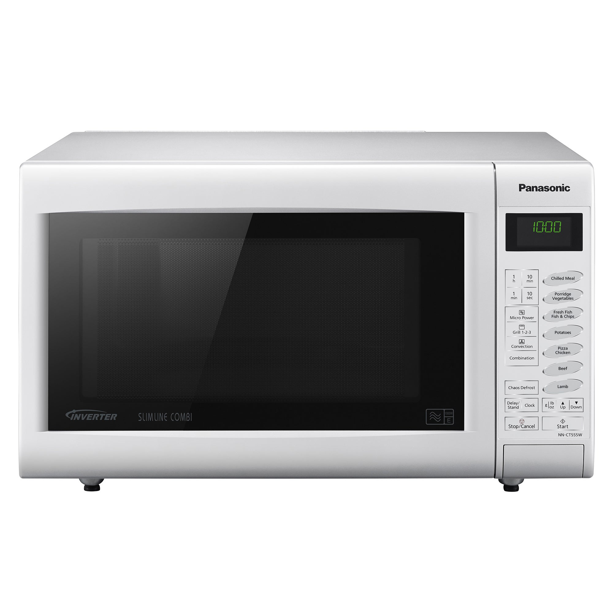 Panasonic NNCT555WBPQ 1000W White 27L 3 in 1 Combination Microwave Oven with Grill White