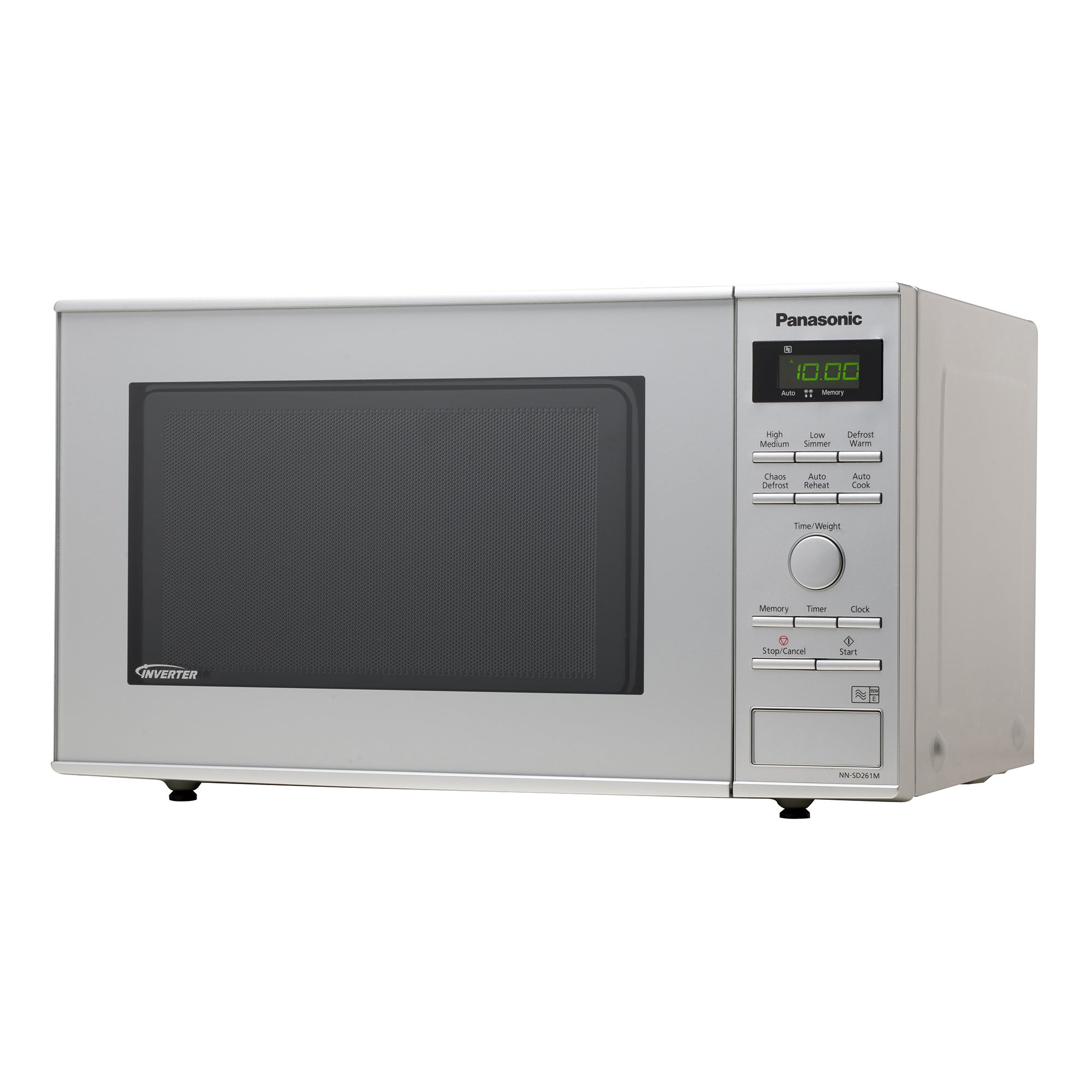 Panasonic NNSD251WBPQ 950W Silver 23L Solo Microwave Silver