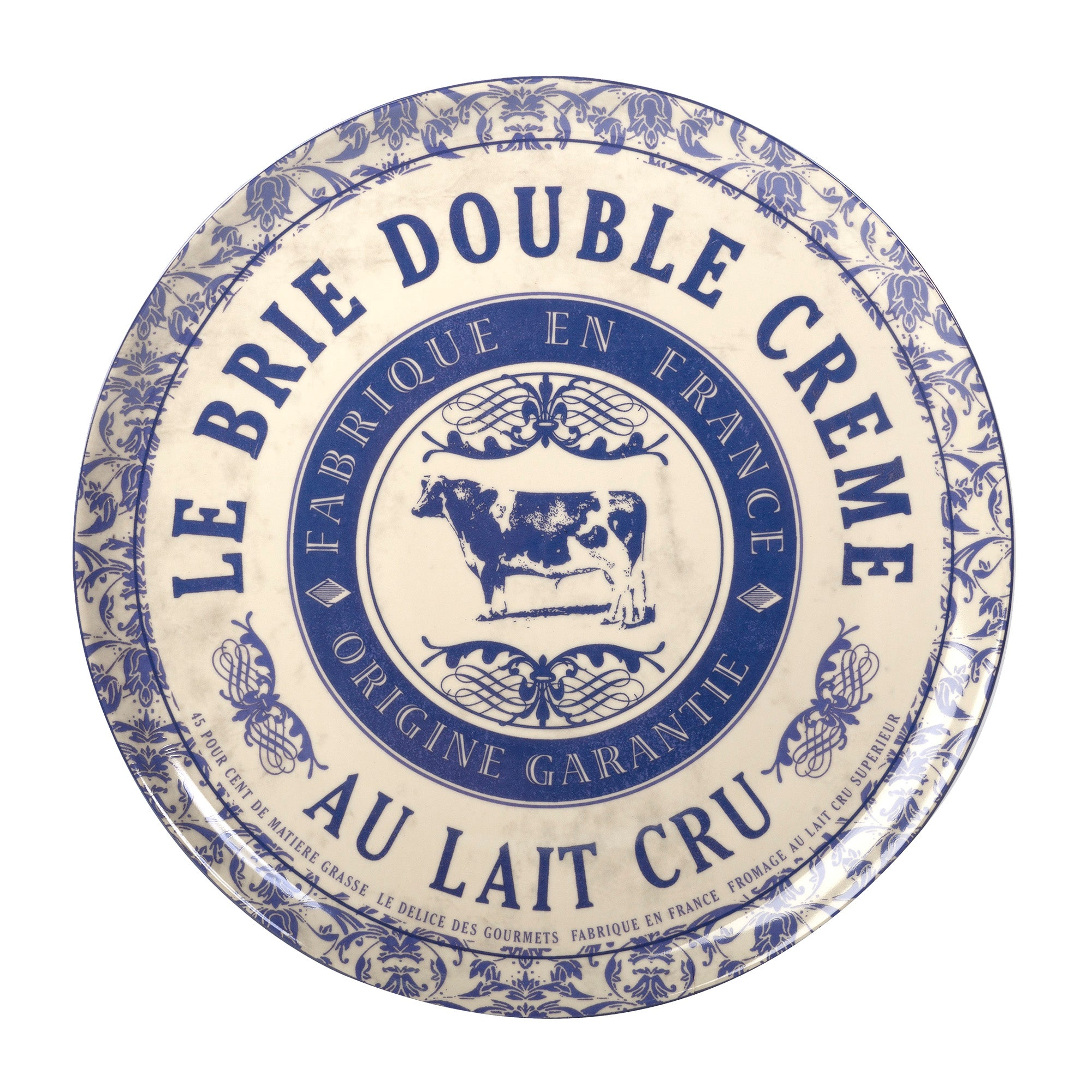 Photo of Gourmet large cheese serving plate blue