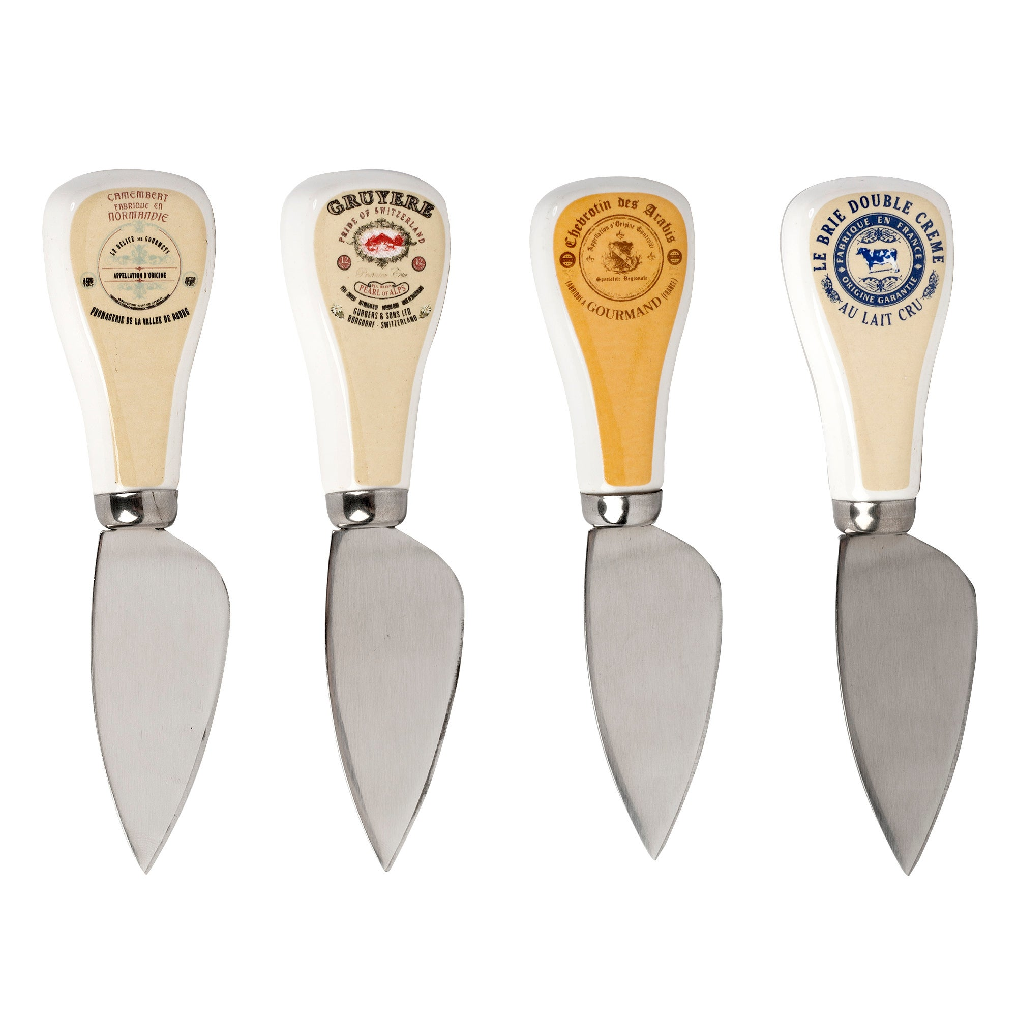 Photo of Gourmet set of 4 cheese knives silver
