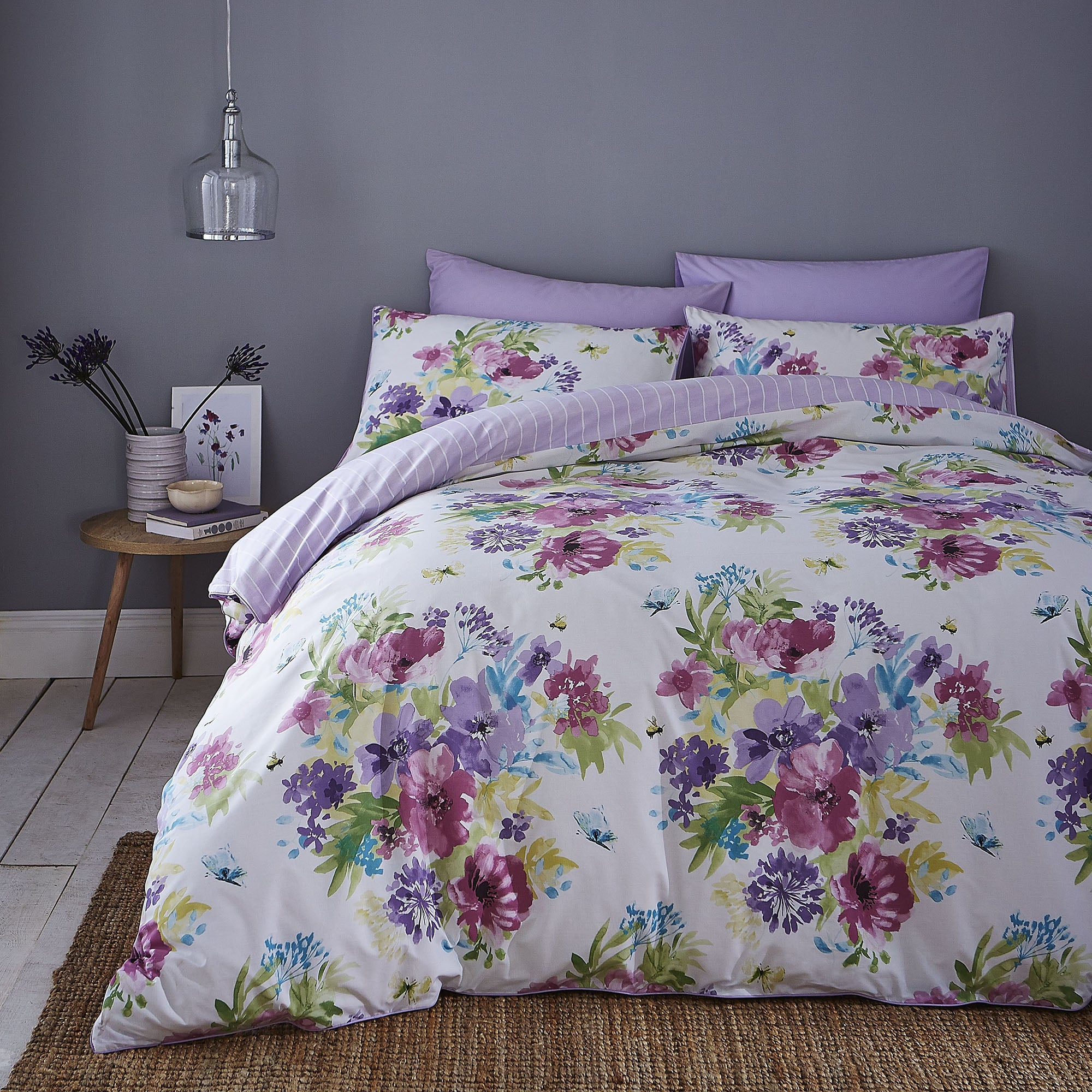 Image of Alice Duvet Cover and Pillowcase Set Heather