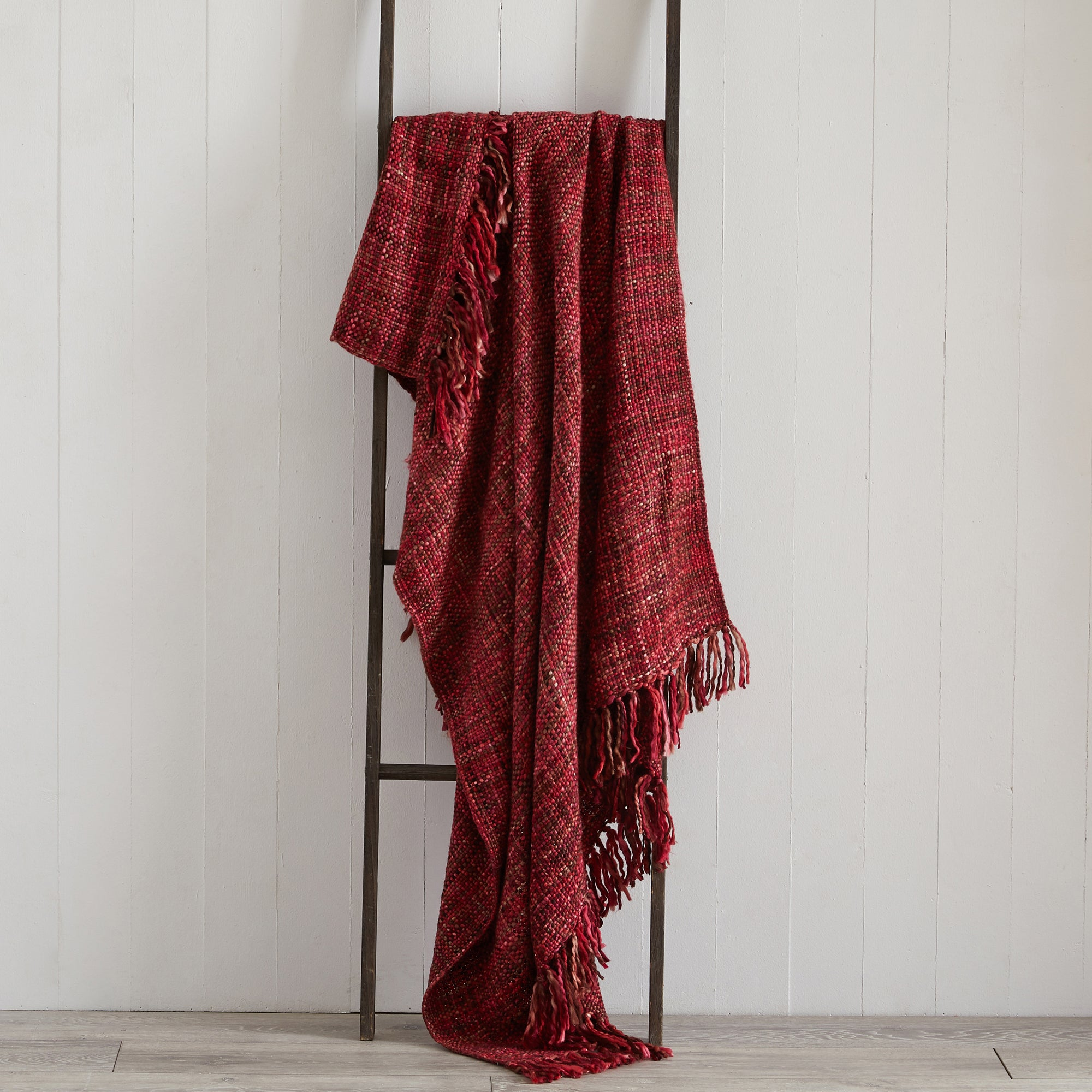 Image of Camden Red Throw Red