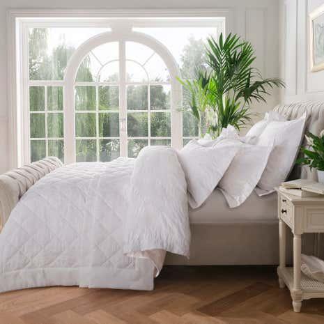 Dorma Fern White Bedspread   Dunelm : dorma quilted bedspreads - Adamdwight.com