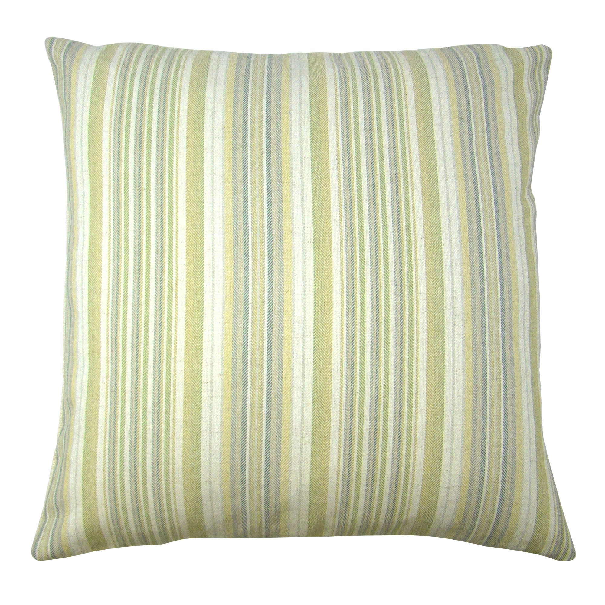 Photo of Coastal green stripe cushion cover green