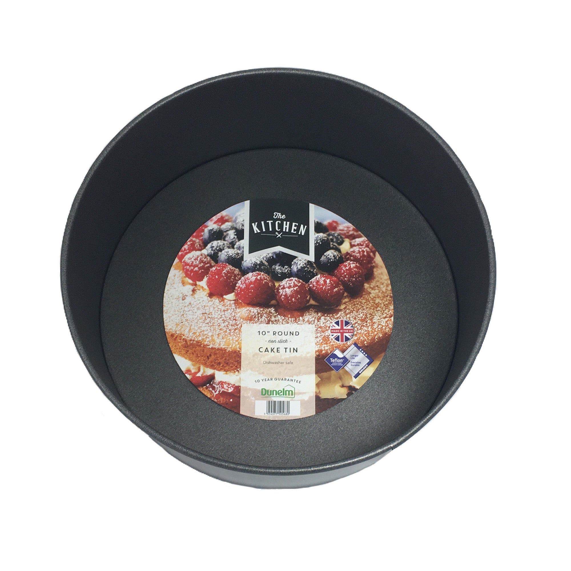 "Image of 10"" Round Cake Tin Black"