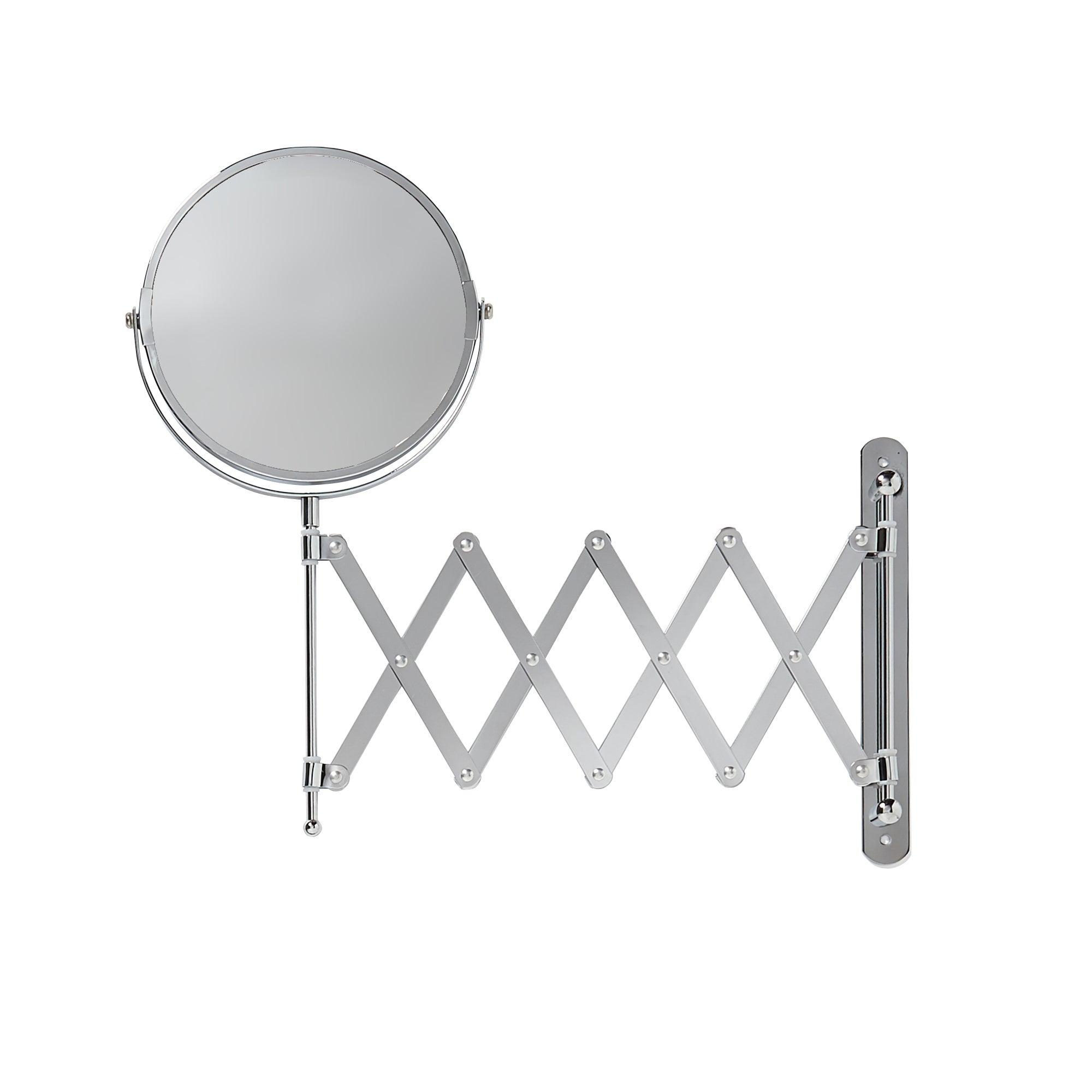 Photo of Extendable shaving bathroom mirror chrome