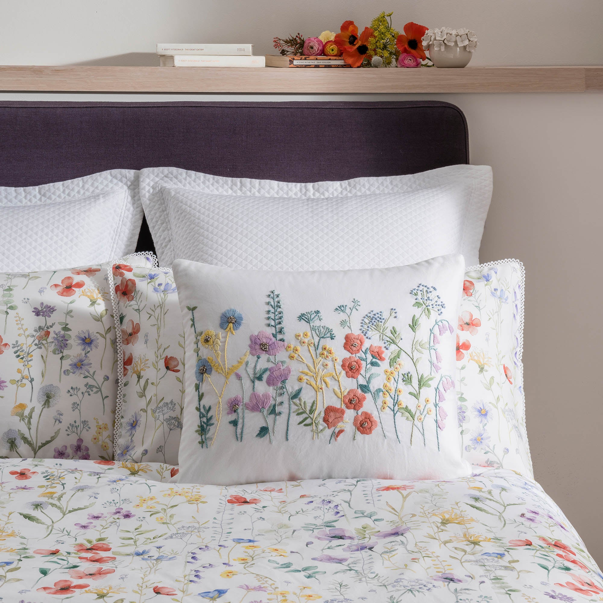 Image of Dorma Wildflower Cushion Multi Coloured