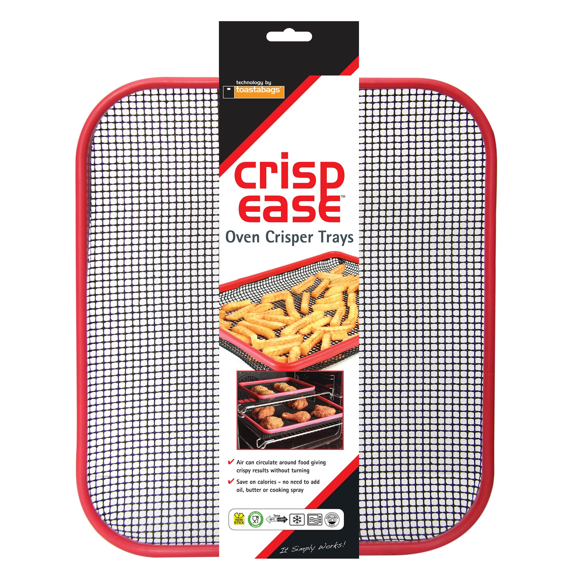 Image of Toastabags Crispease Oven Crisper Tray Black
