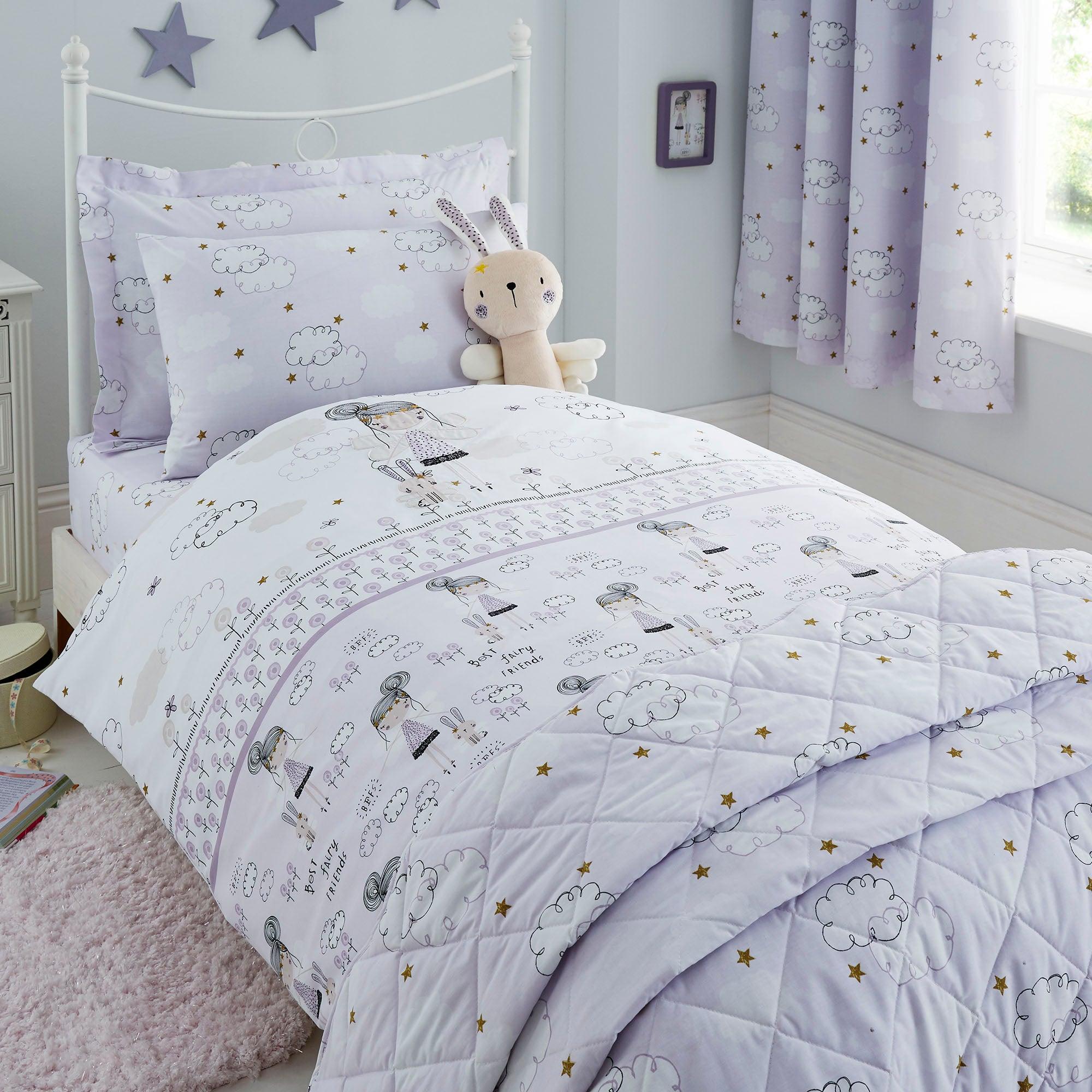 Dreamy Days Lilac Duvet Cover and Pillowcase Set Lilac