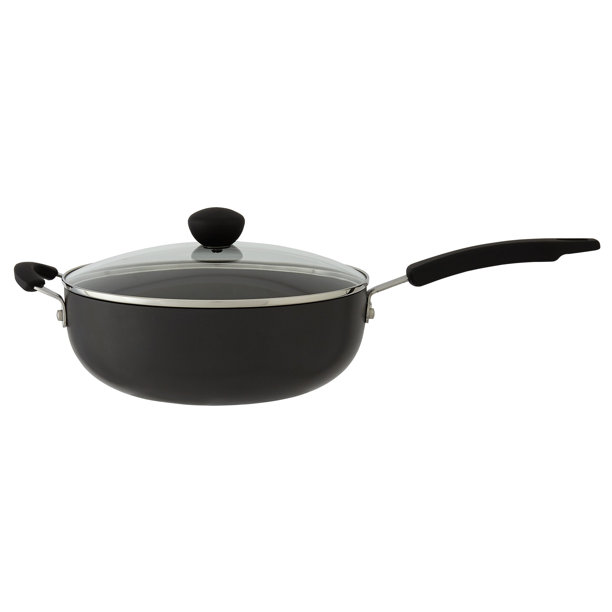 Photo of Dunelm hard anodised 26cm everyday pan black
