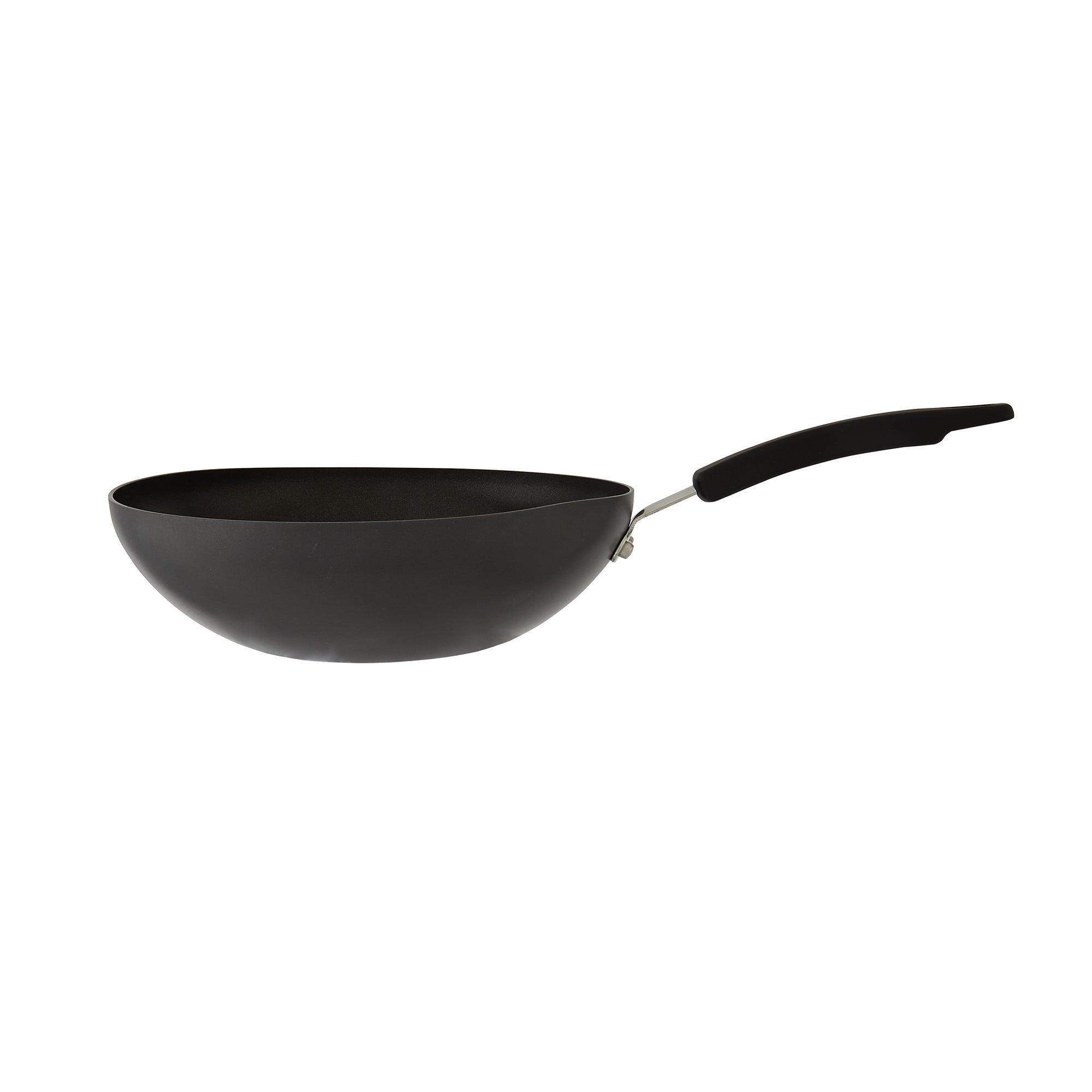 Photo of Dunelm hard anodised 28cm wok black